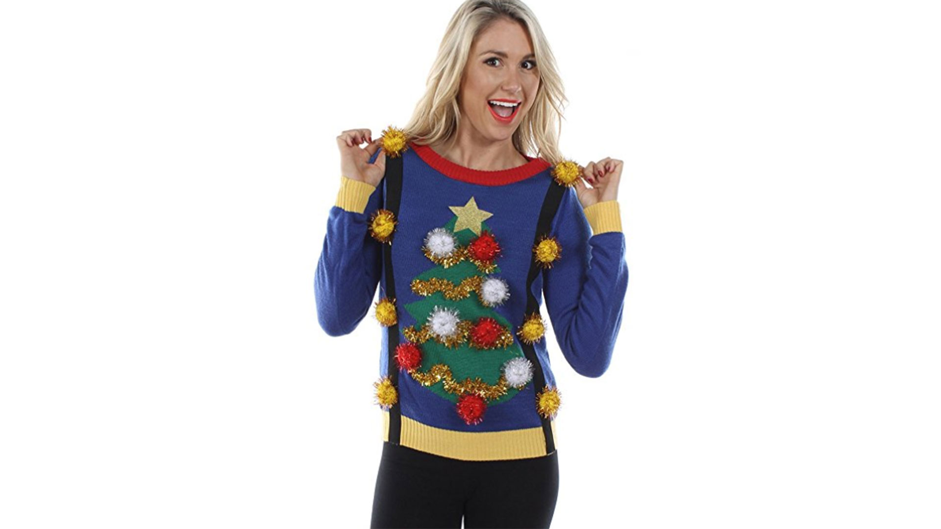 Tacky Tinsel Tree Sweater