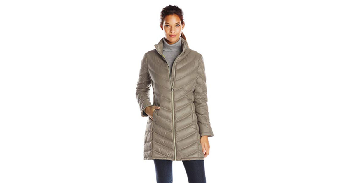 Calvin Klein Women's Chevron-Quilted Packable Puffer Coat