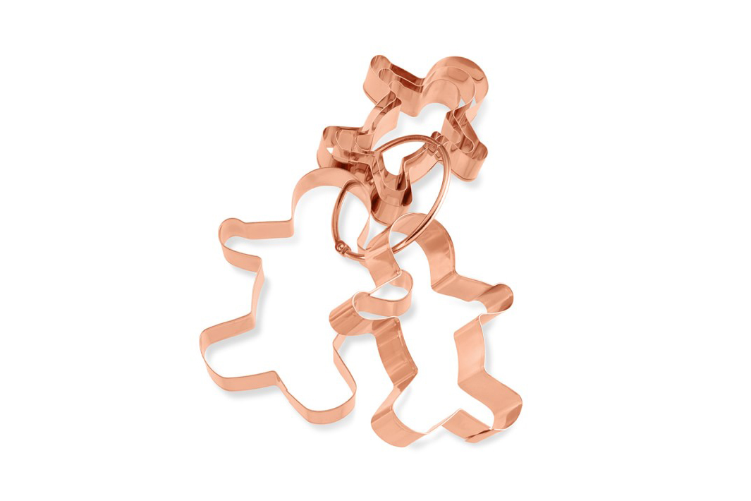 Gingerbread Man Copper Cookie Cutter Set