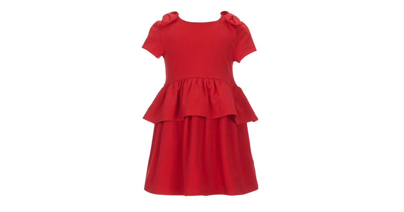 Little Girls Knit Peplum Dress