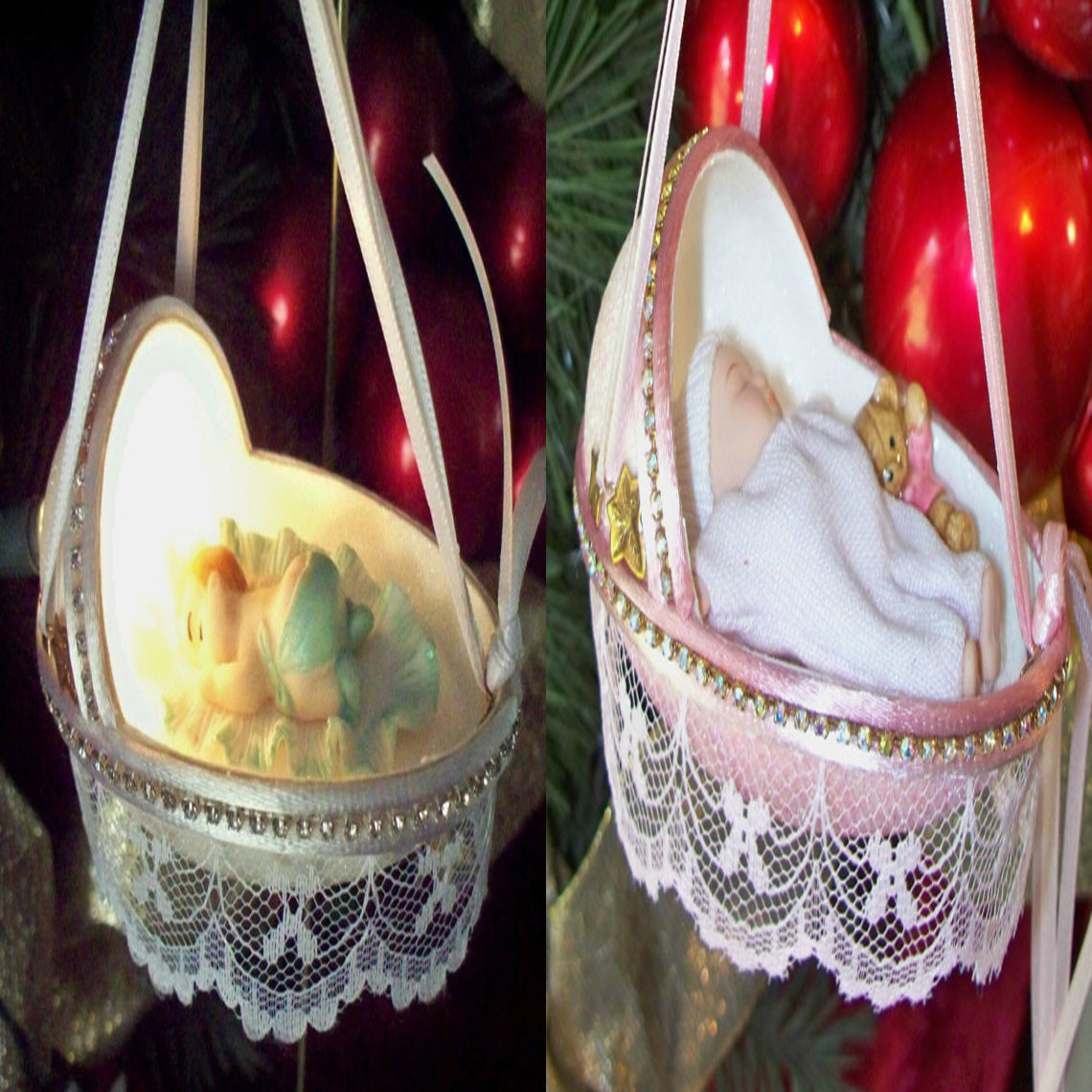 Goose Egg Baby Ornament