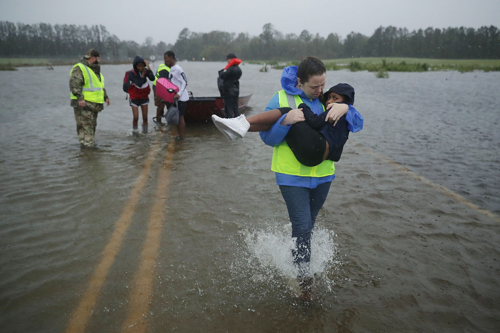 Hurricane Florence Water Rescue