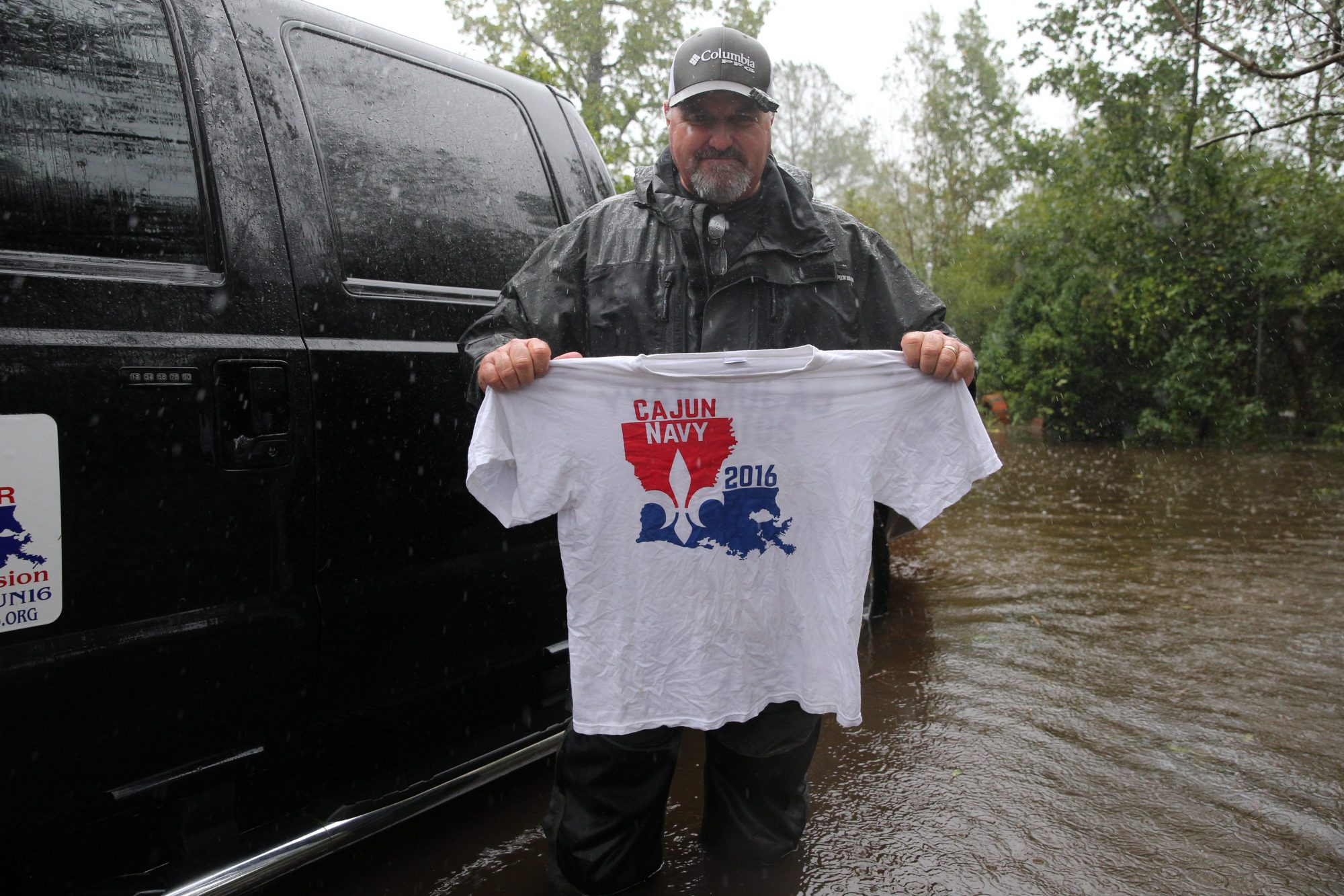 Cajun Navy Member During Hurricane Florence