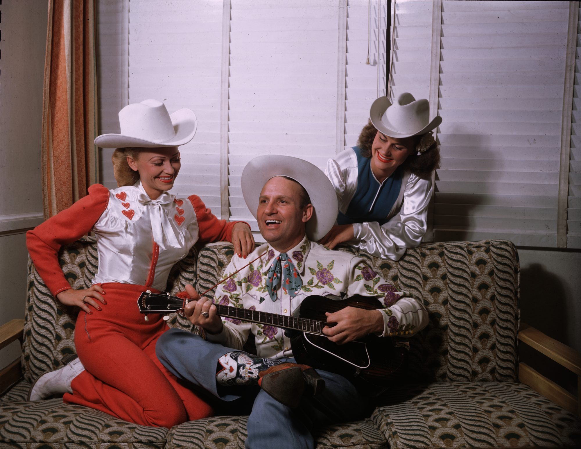 Gene Autry, Faye Blessing, and Jeanne Gatshall