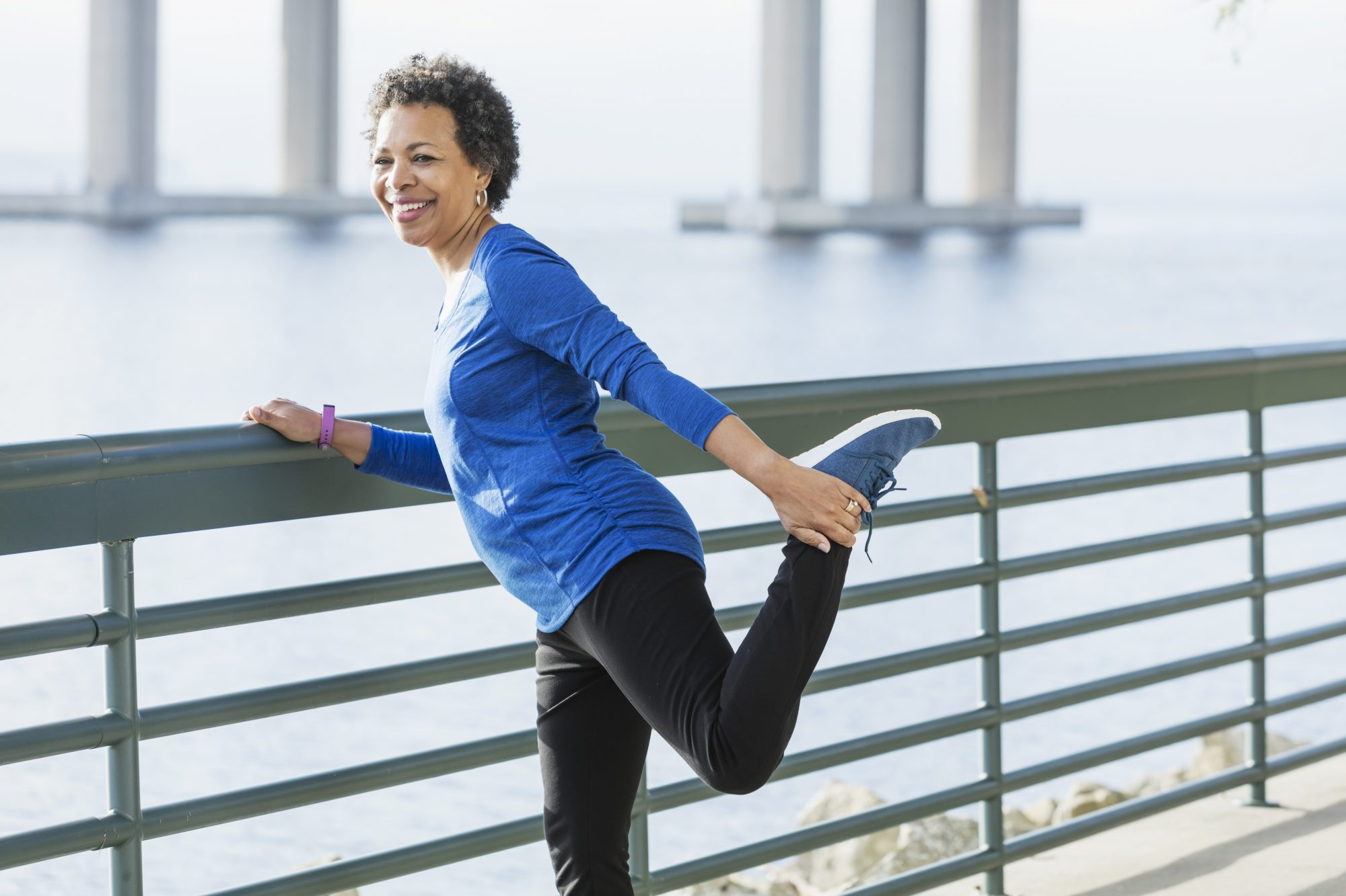 Mature Woman Stretching for Workout