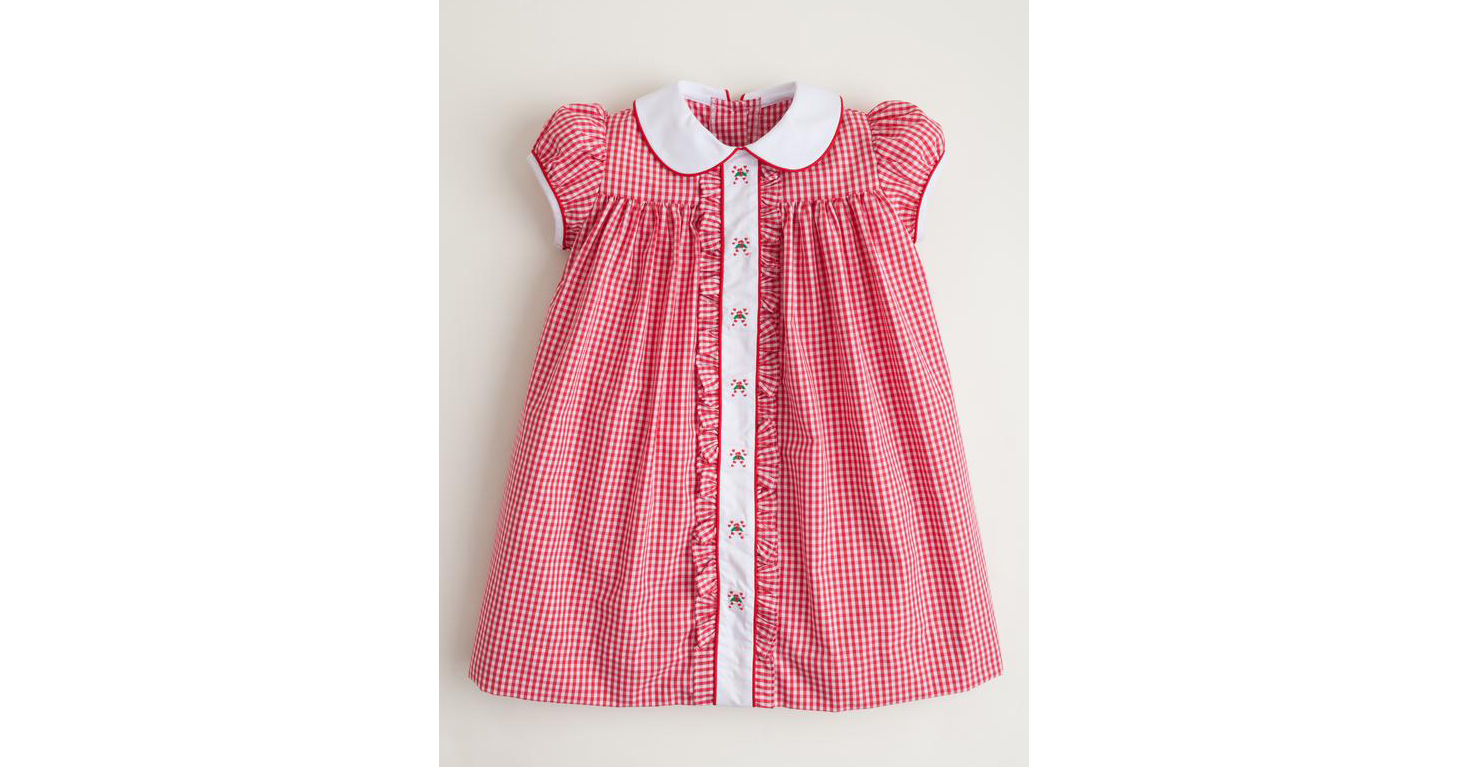 Candy Cane Ruffled Sally Dress