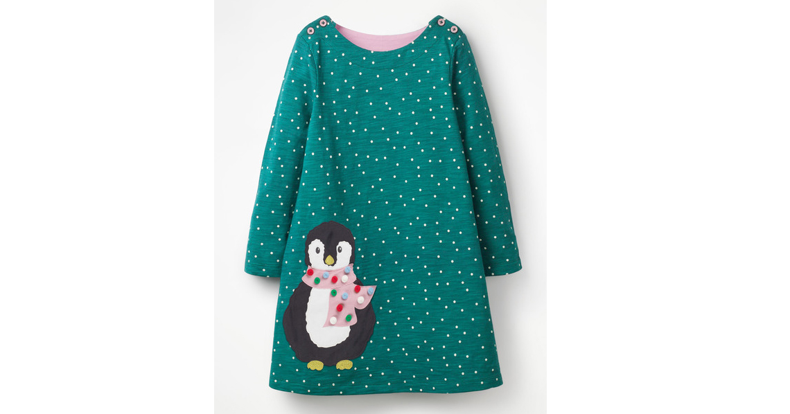 Spotty Animal Appliqué Dress