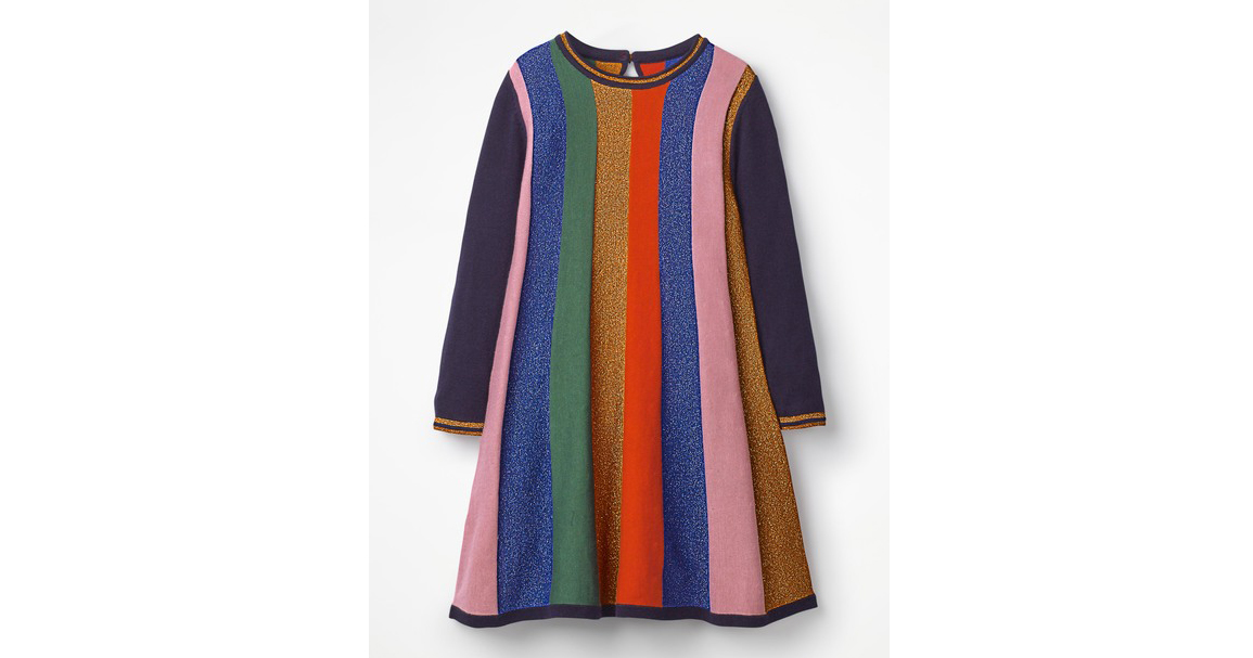 Sparkle Stripe Knitted Dress