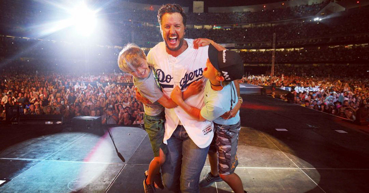 Luke Bryan with Kids