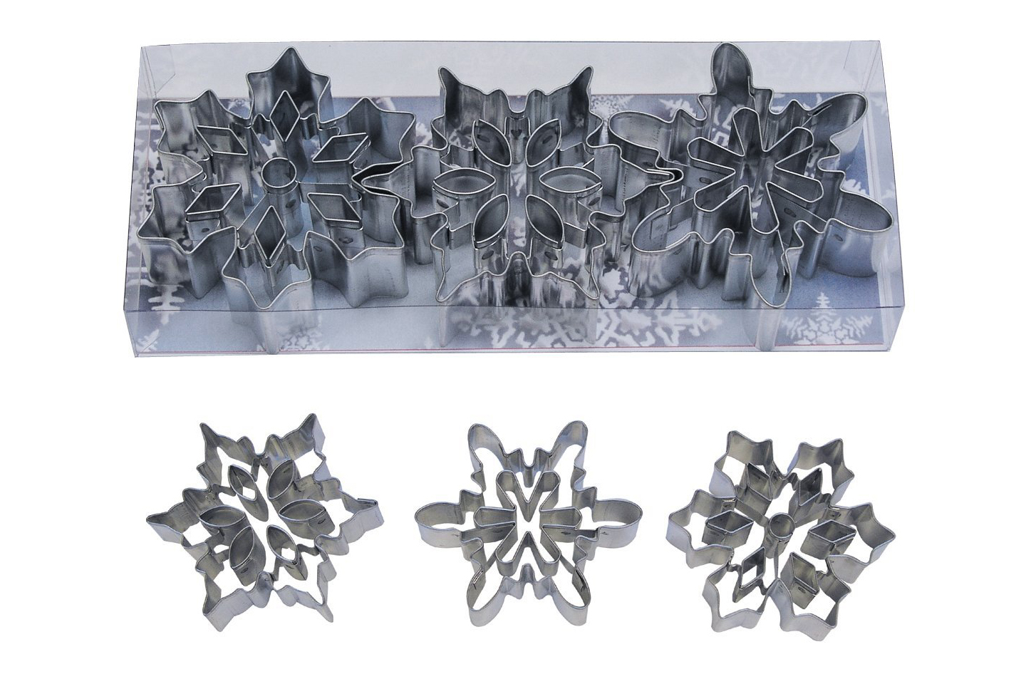 R&M International Snowflake with Cutouts Cookie Cutter Set