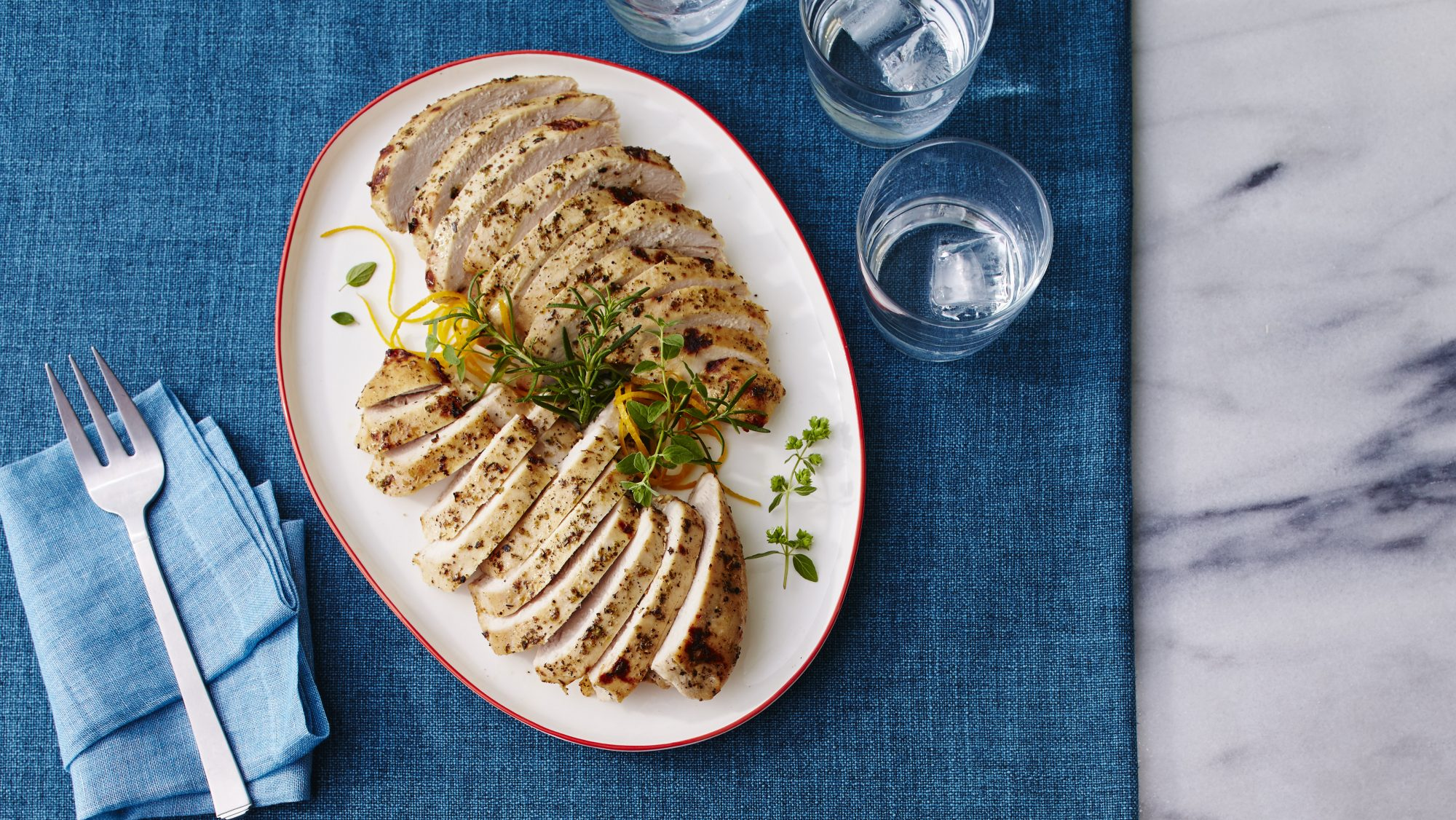 Remarkable, Cooking a marinated turkey breast