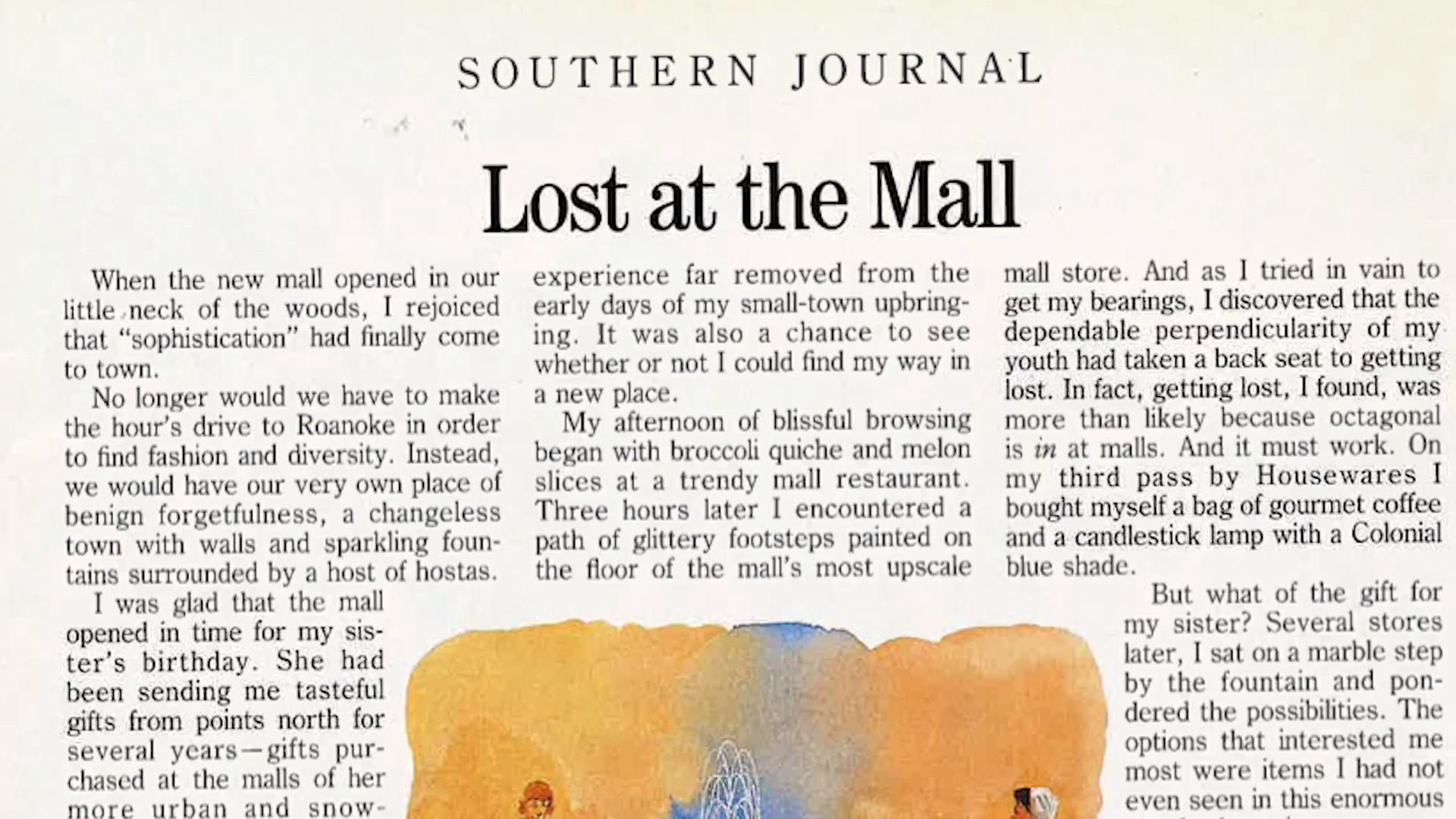 Lost At The Mall