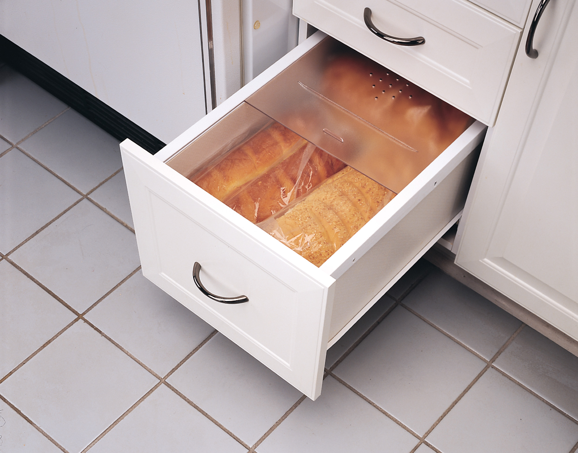 Rev-A-Shelf Large Translucent Bread Drawer Cover Kit