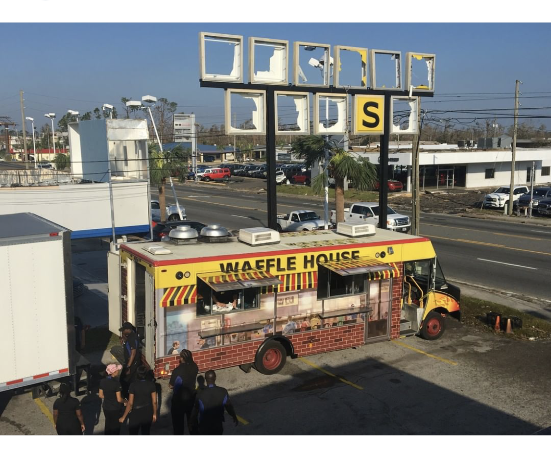 Waffle House Food Truck Is Out To Help Hurricane Michael Victims In