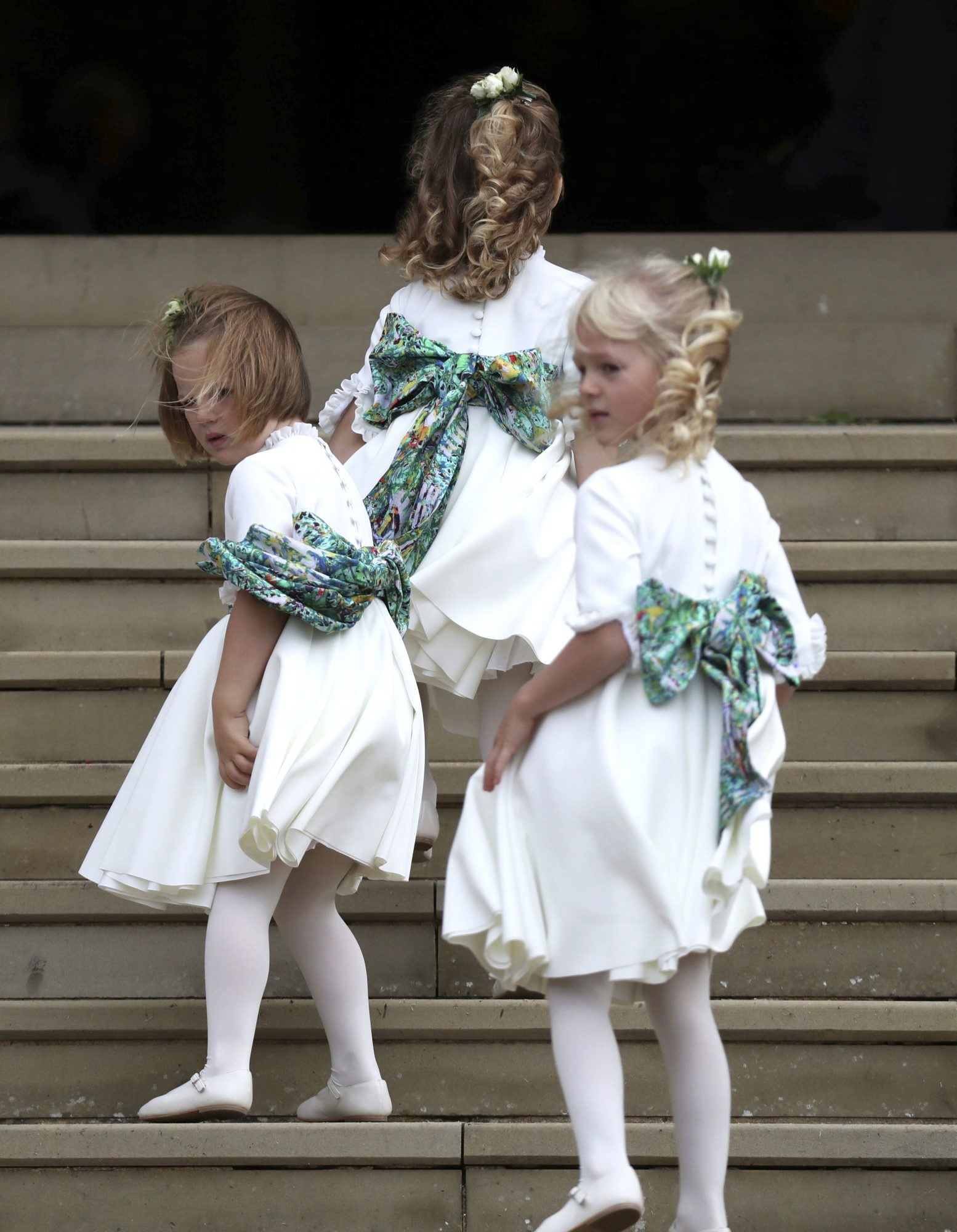 Prince George and Princess Charlotte Are Bridal Party Pros at Princess Eugenie's Wedding! bridesmaids-1-2000