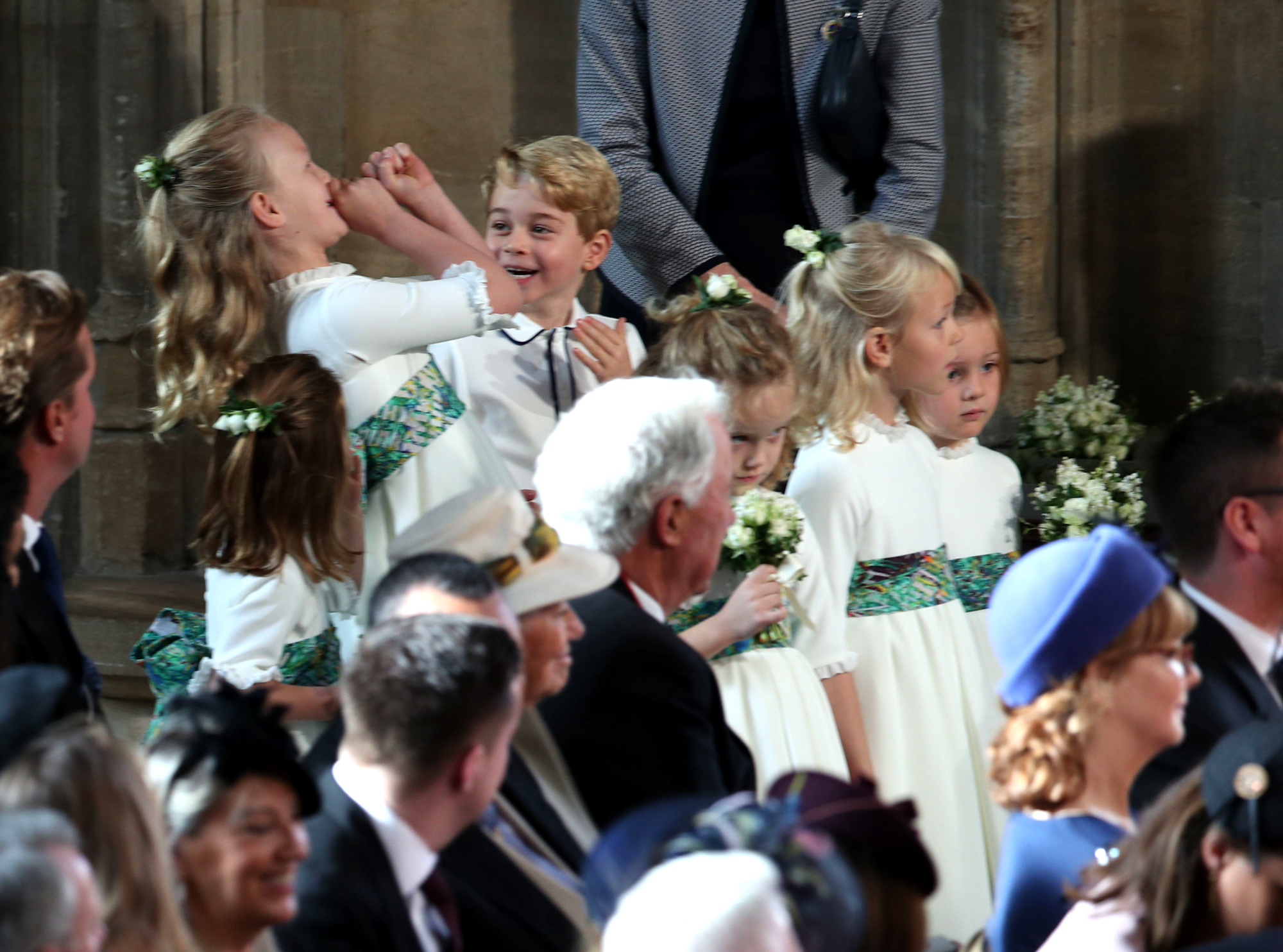 Prince George and Princess Charlotte Are Bridal Party Pros at Princess Eugenie's Wedding! children-laughing-1-2000