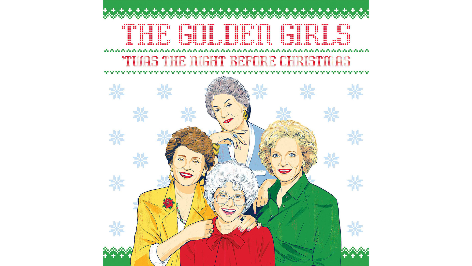 Golden Girls Christmas Book Cover