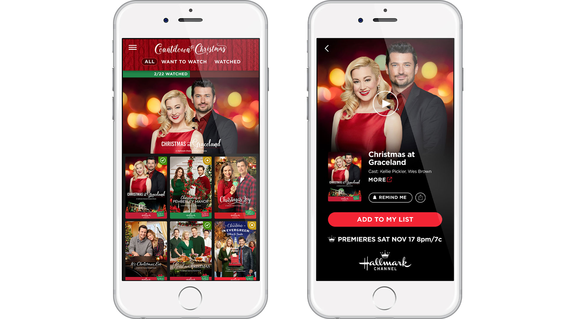 Christmas Joy Cast.Hallmark S New App Will Help You Live Your Best Countdown