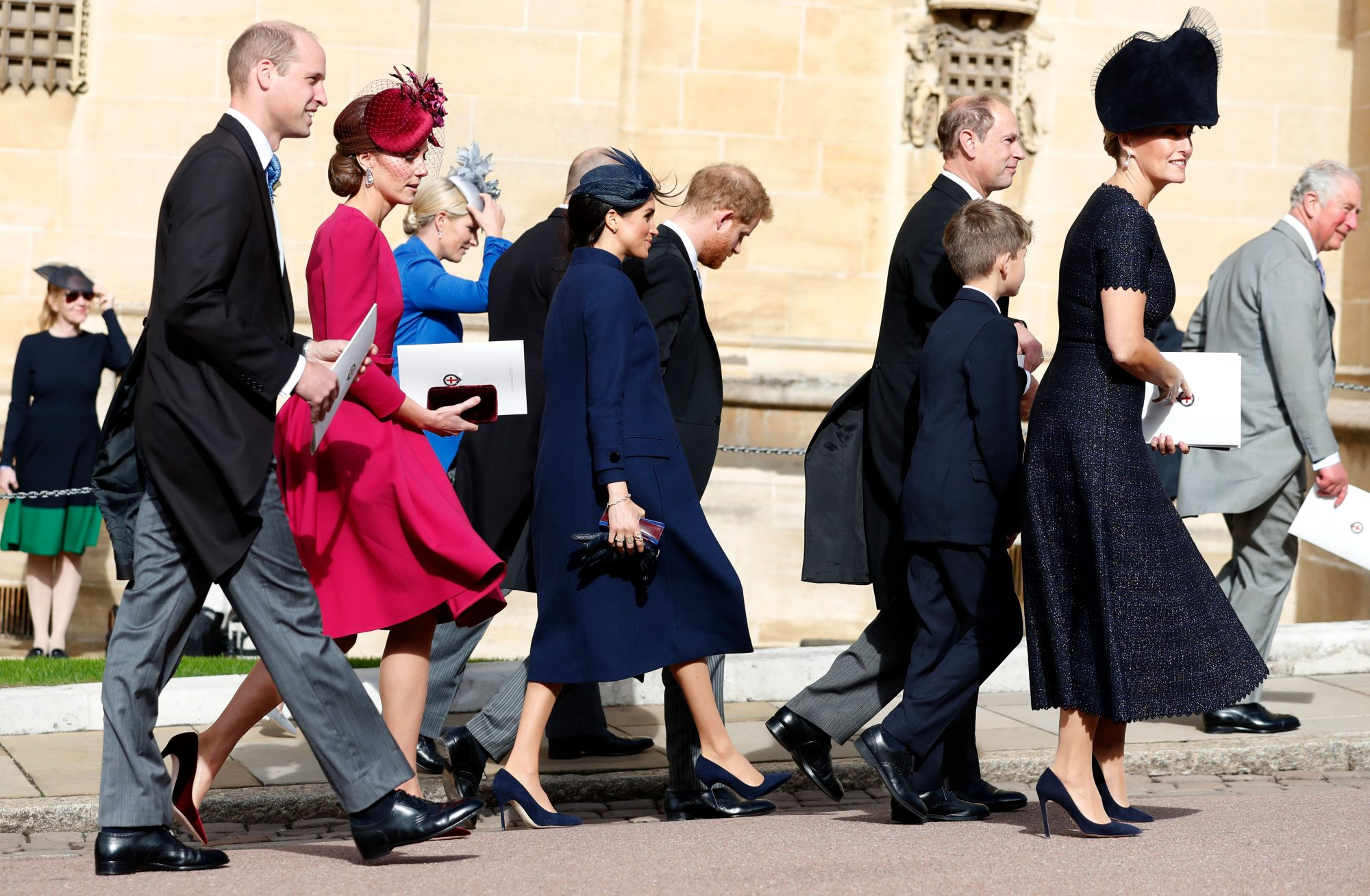 Kate Middleton and Meghan Markle at Princess Eugenie Wedding