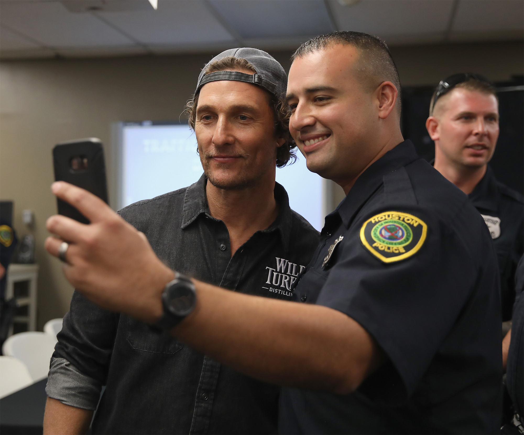 Matthew McConaughey Surprises Hurricane Harvey First Responders in Houston to Give Thanks
