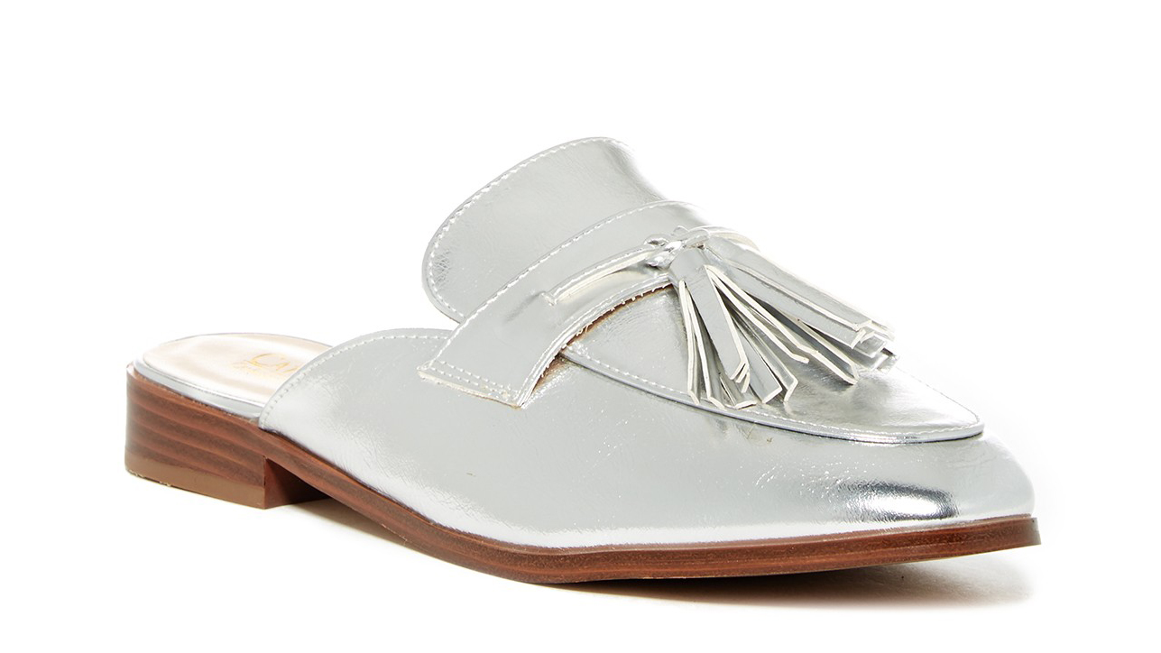 Silver Slip-On Loafers