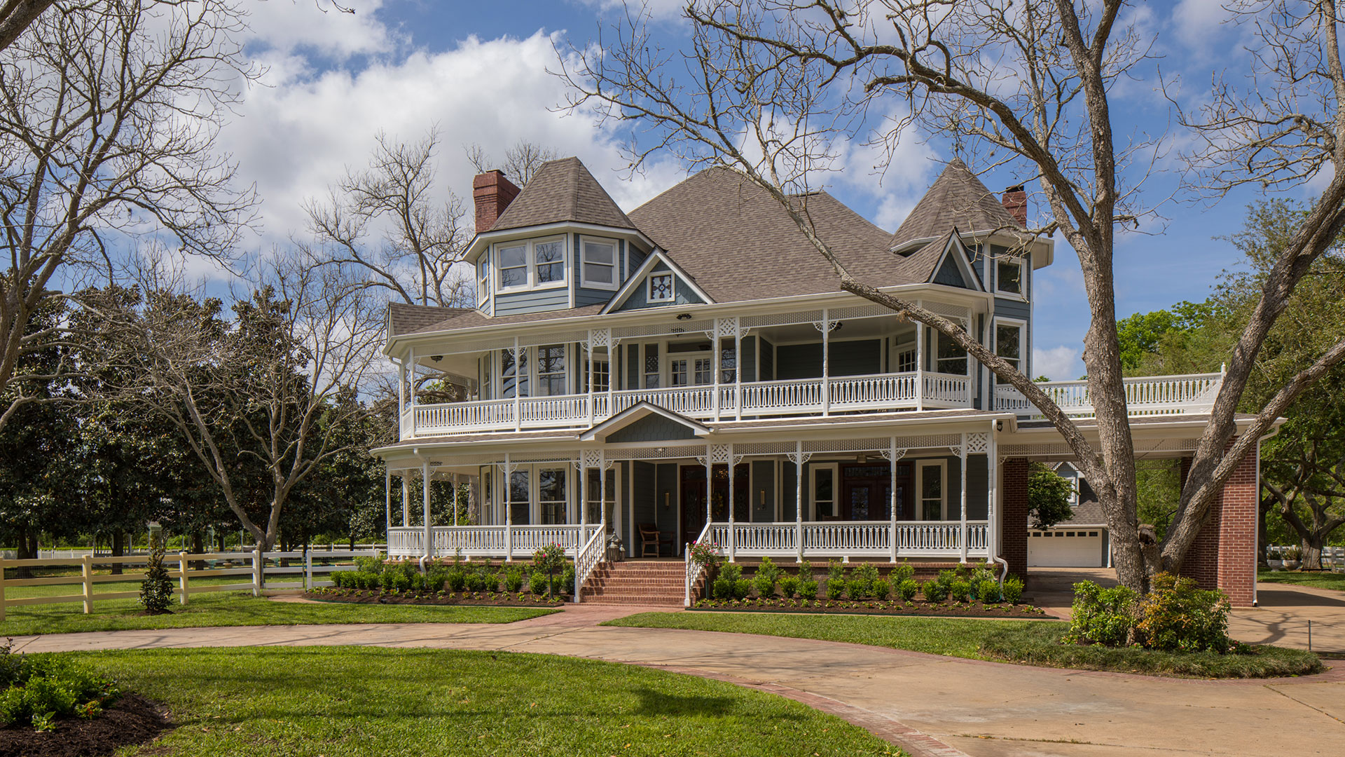 Sugar Land Victorian Pecan Manor Porches