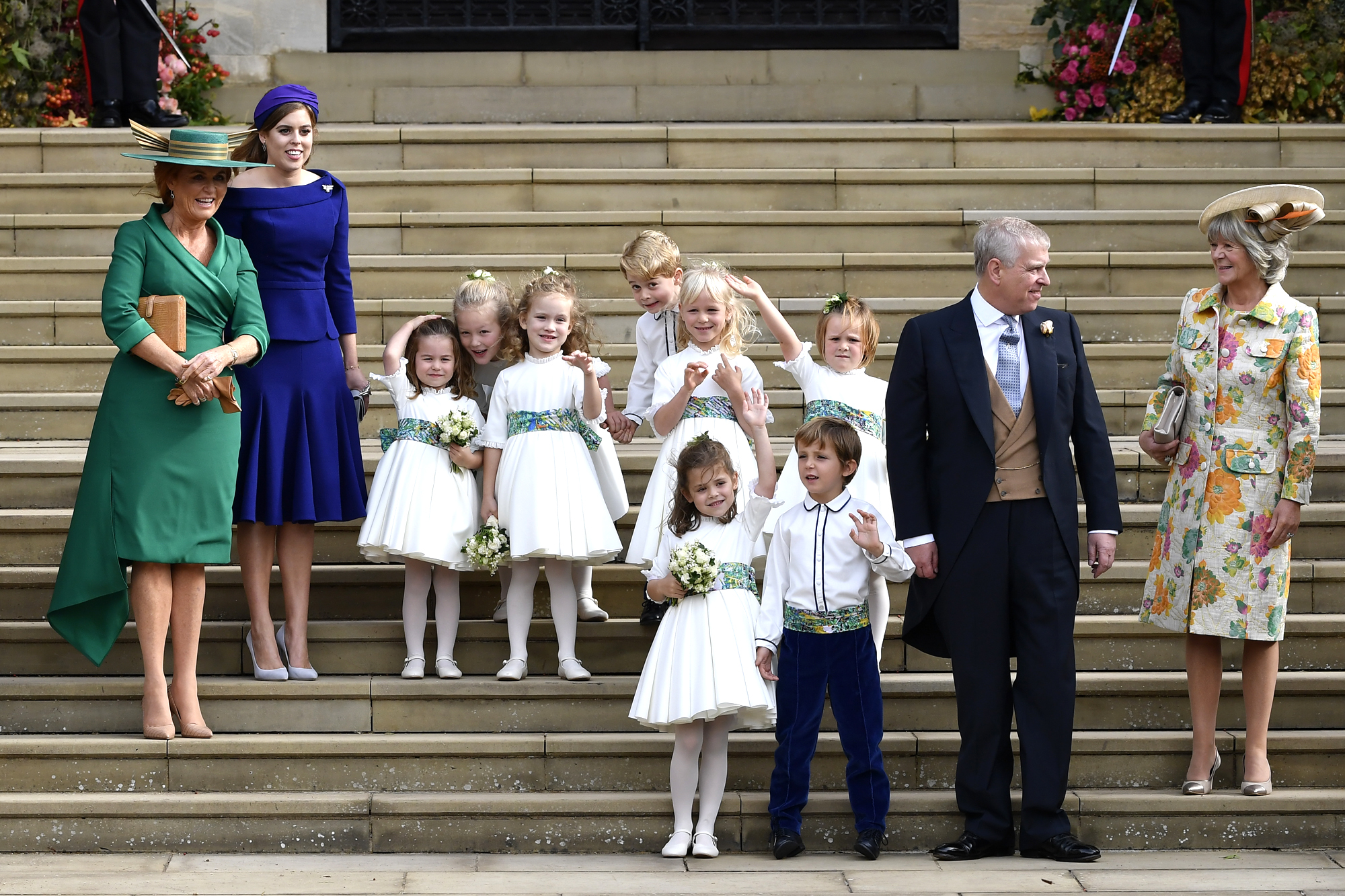 Princess Charlotte Stole One of Mom Kate's Signature Moves in Wedding Portrait with Prince George royal-children-4-2000