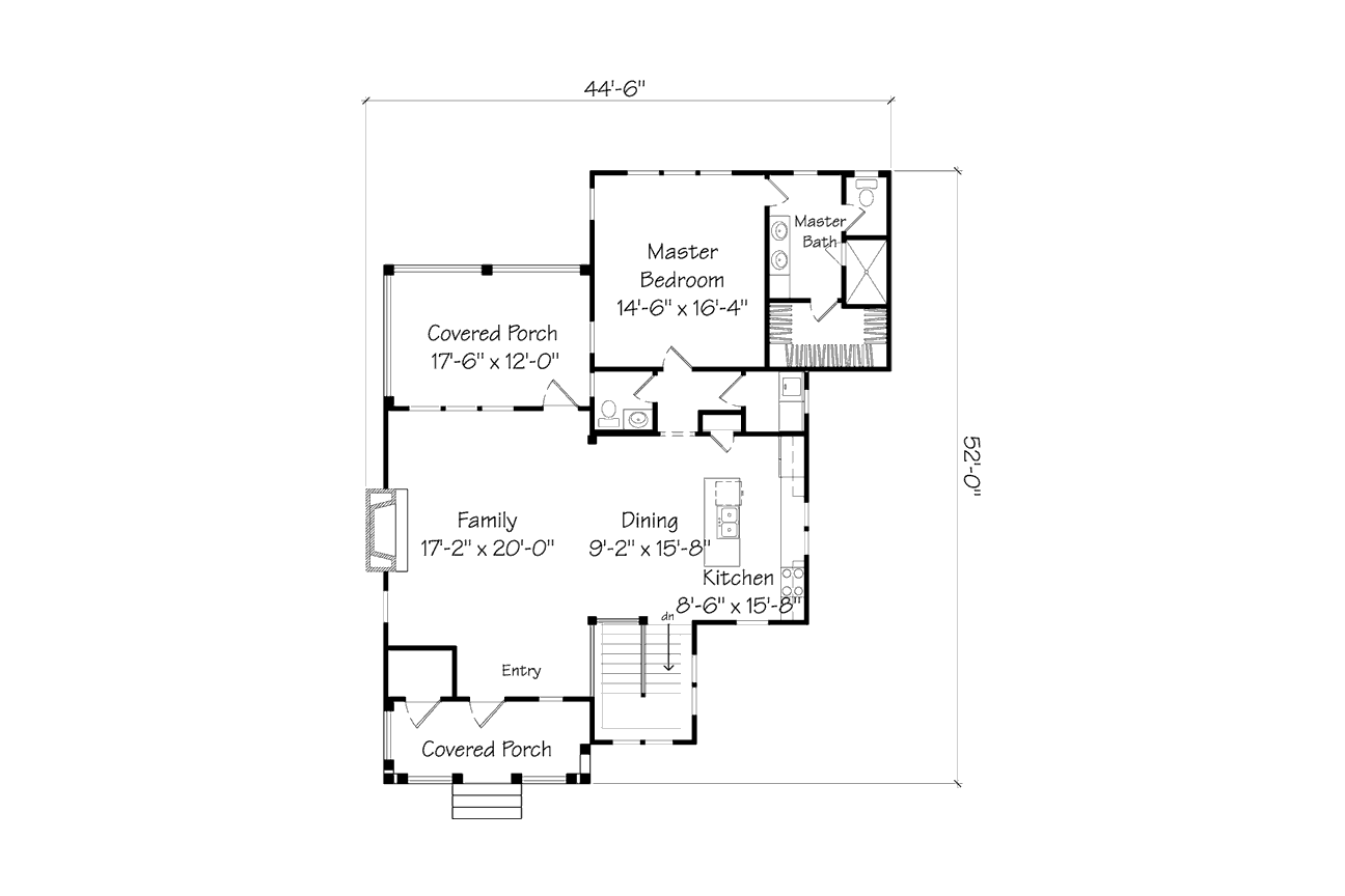SL House Plan 1391 First Floor