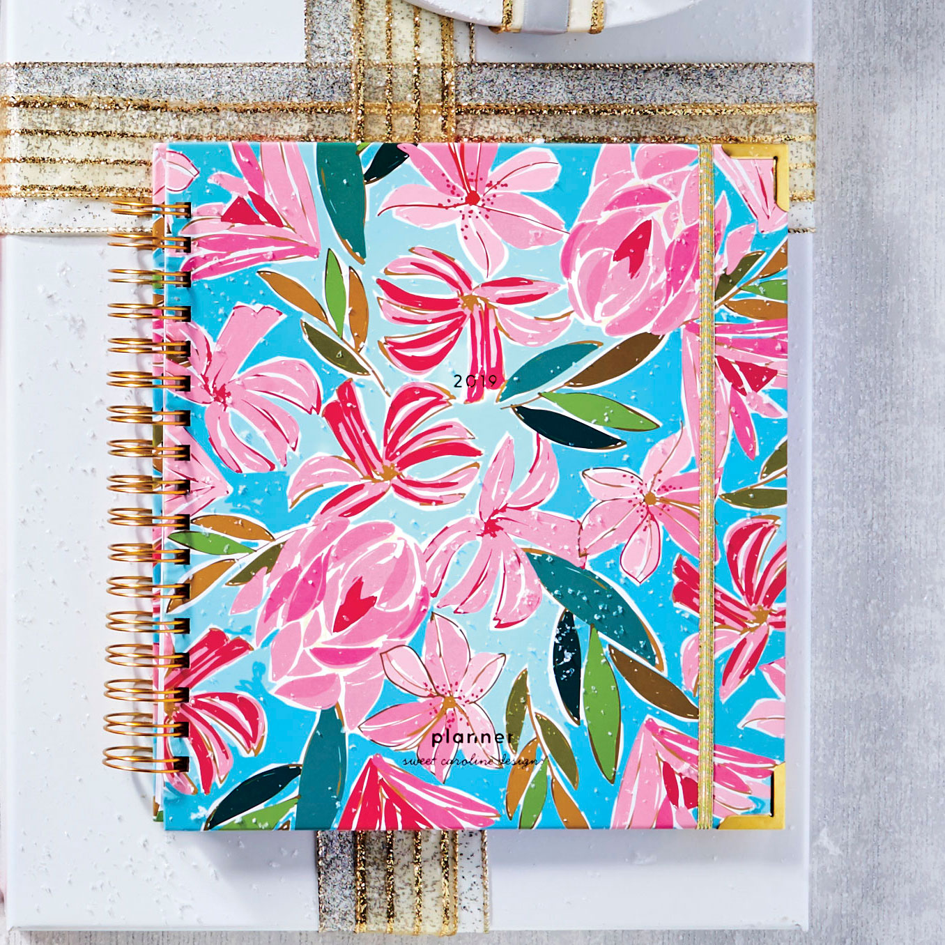 Abstract Floral Large Planner