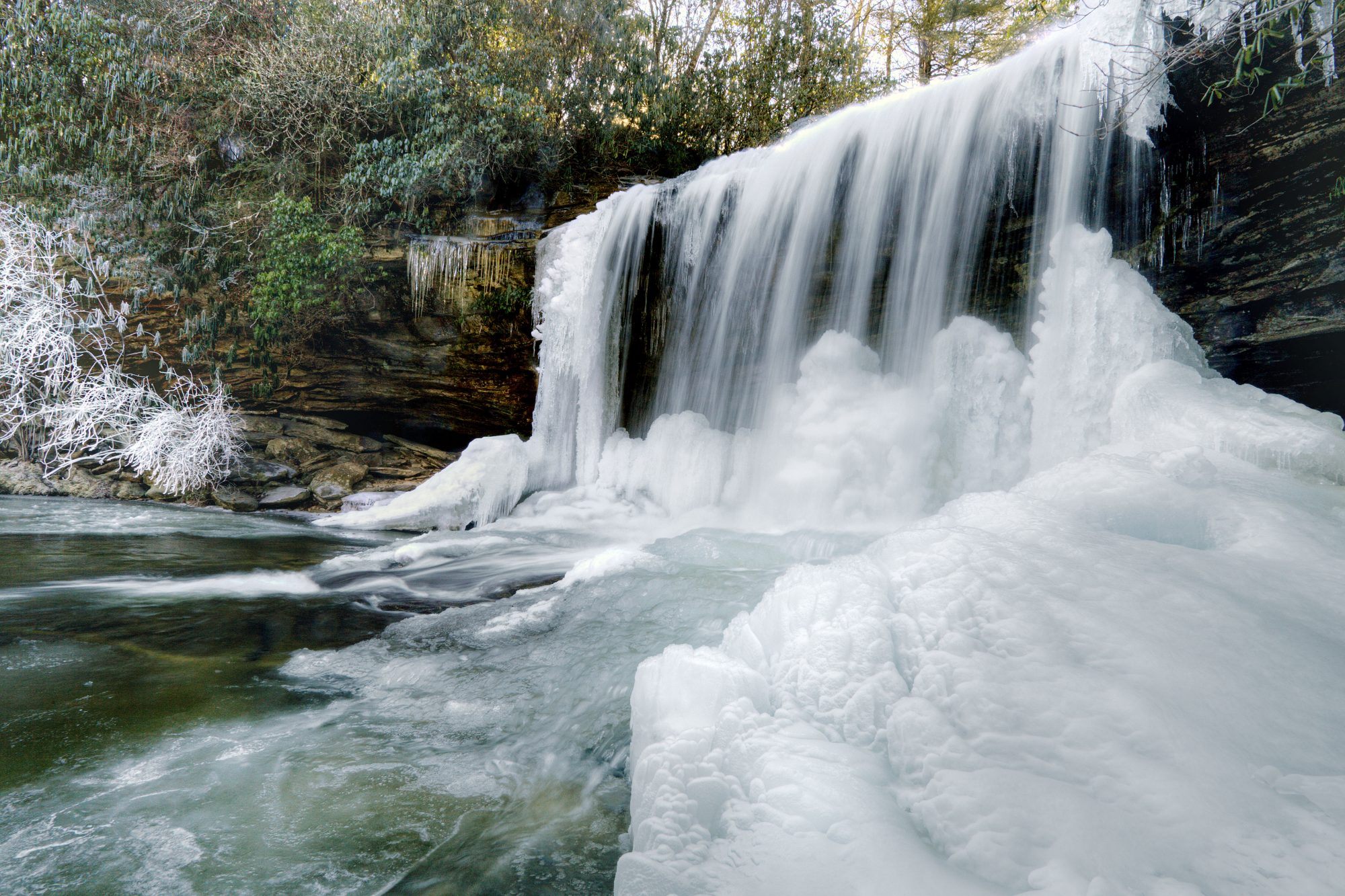 Schoolhouse Falls in Panthertown Valley