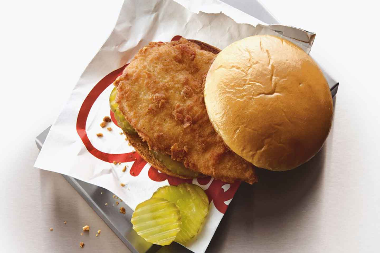 Chick-fil-A Sandwich with Pickles