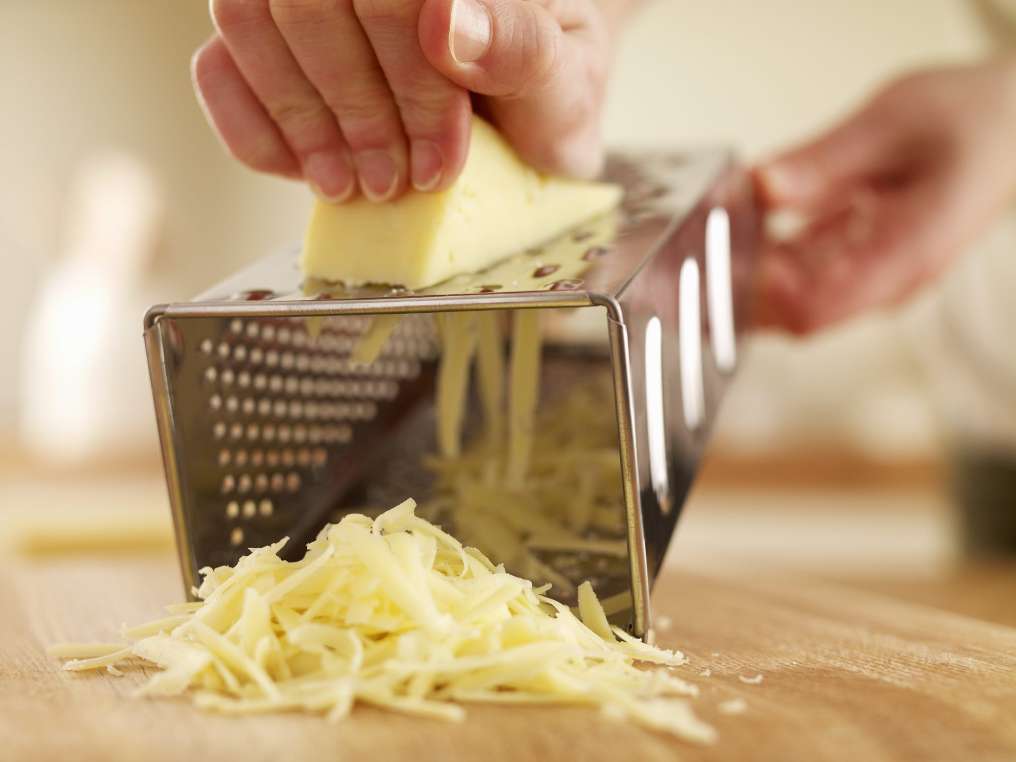 Shredding Cheese with Grater