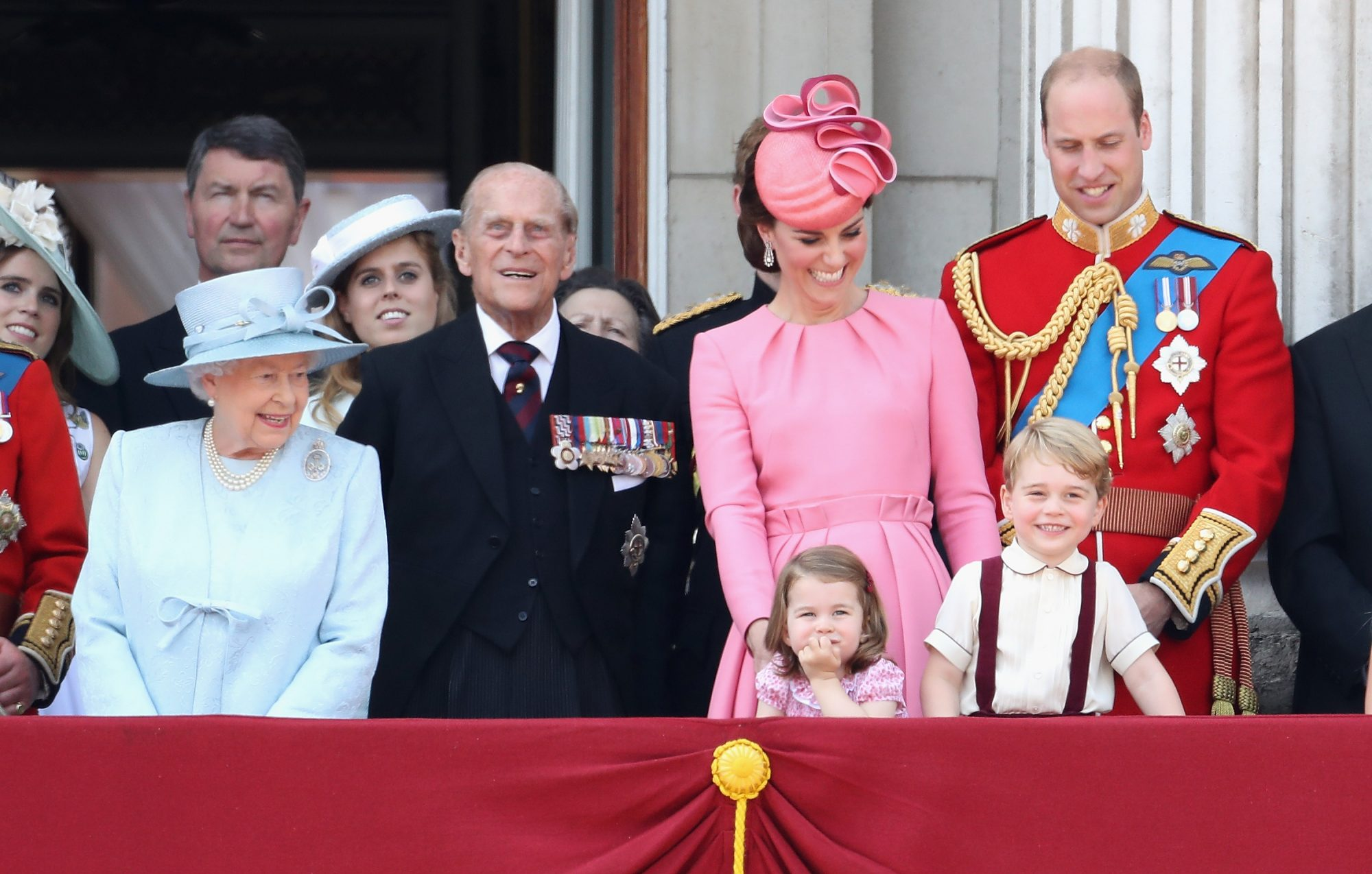 Royal Family at the 2017 Trooping of the Colour