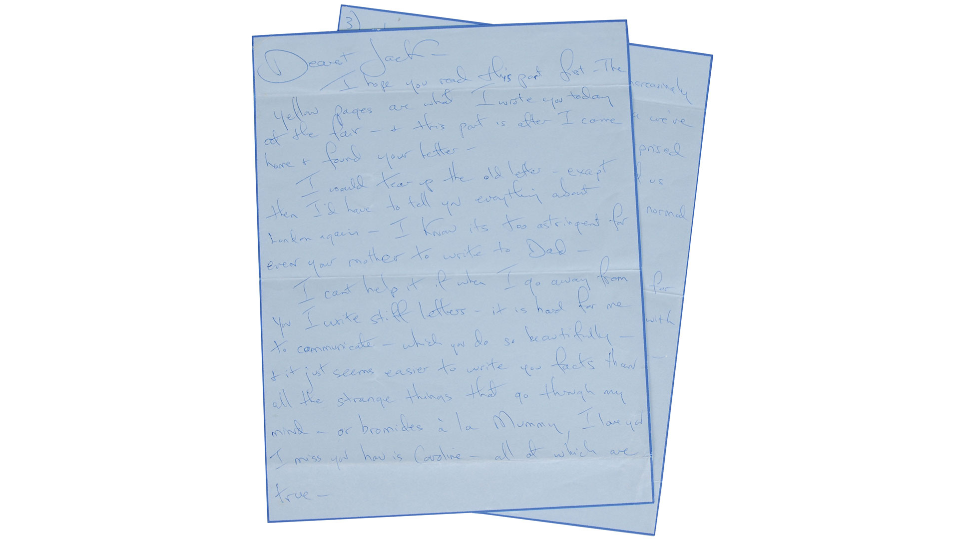 Jackie Kennedy JFK Love Letter