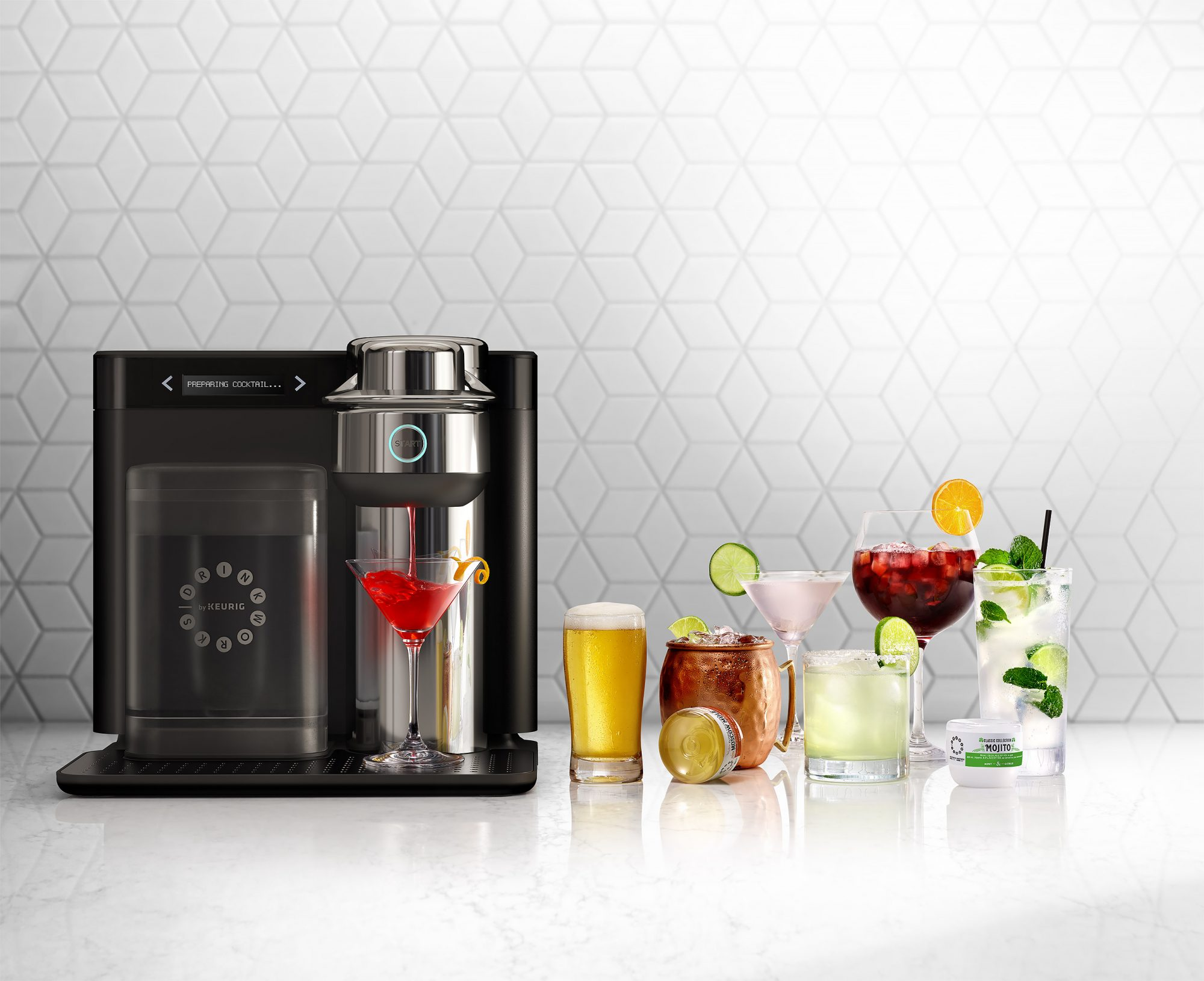 This New Keurig Machine Makes Cocktails Like Moscow Mules, Margaritas and Cosmos keurig-1
