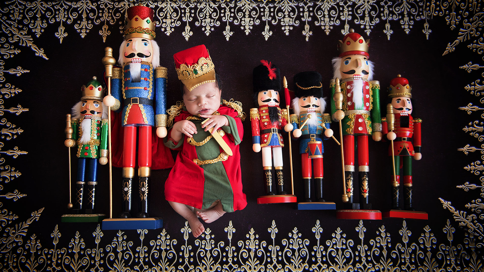 Nutcracker Baby Photoshoot Nutcracker