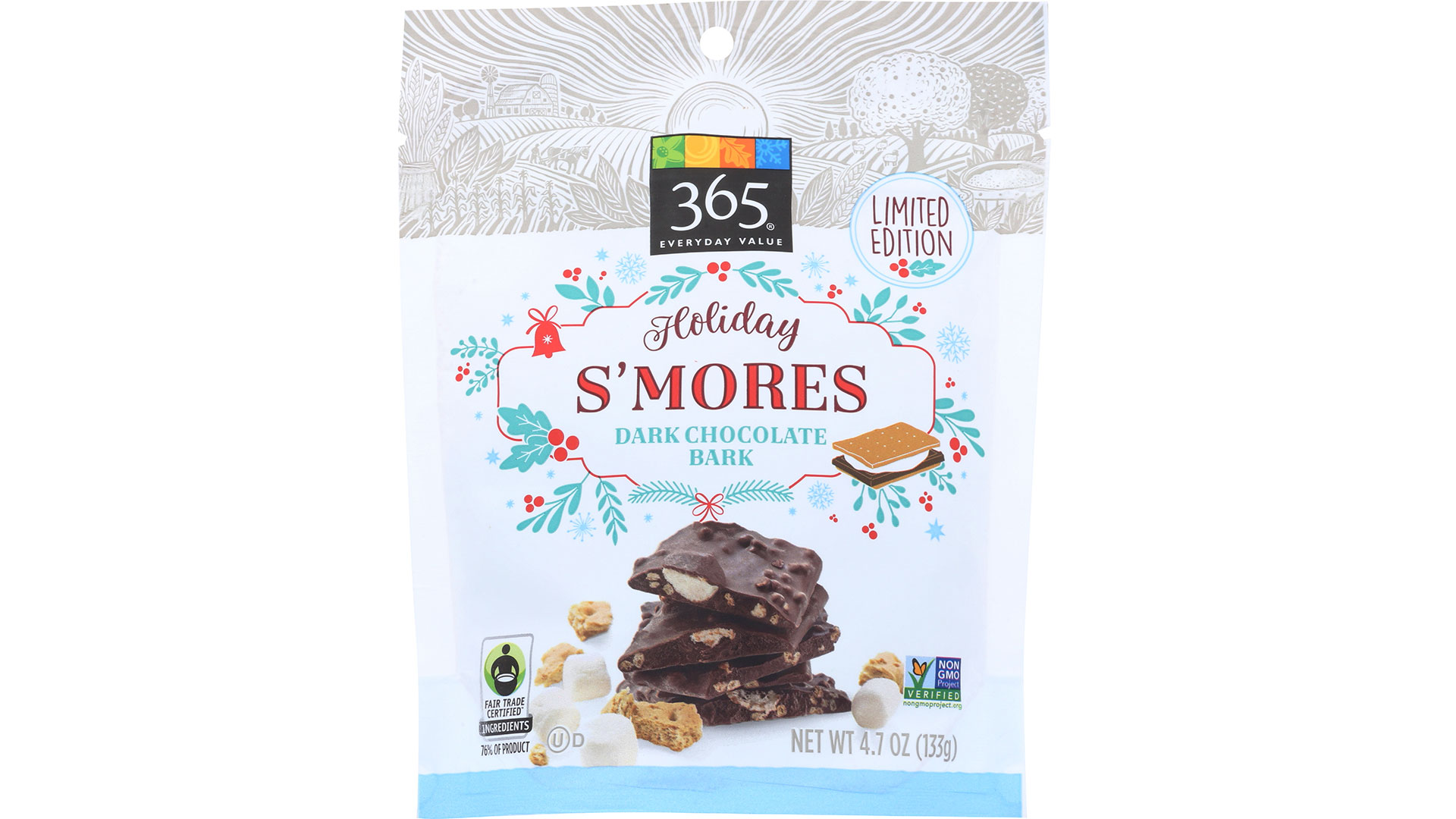 365 Everyday Value Dark Chocolate S'Mores Bark Thins