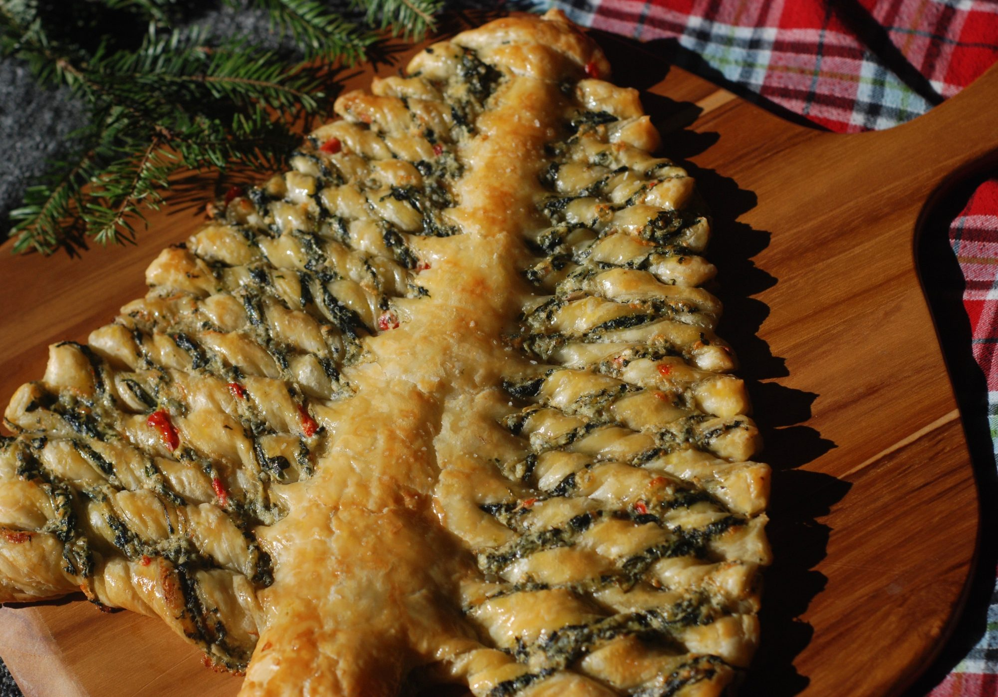 Christmas Tree Spinach Dip Recipe