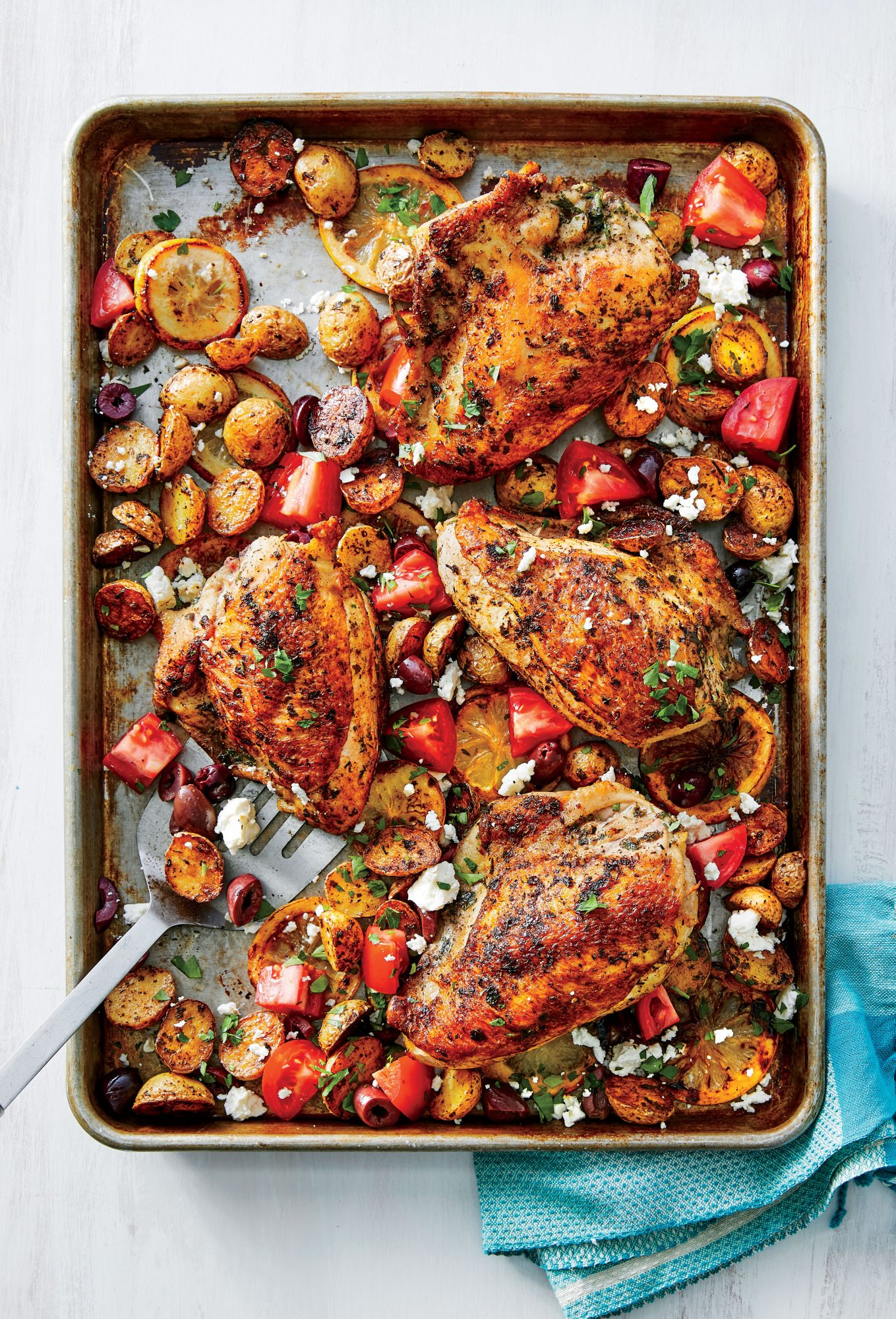 Sheet Pan Greek Chicken with Roasted Potatoes