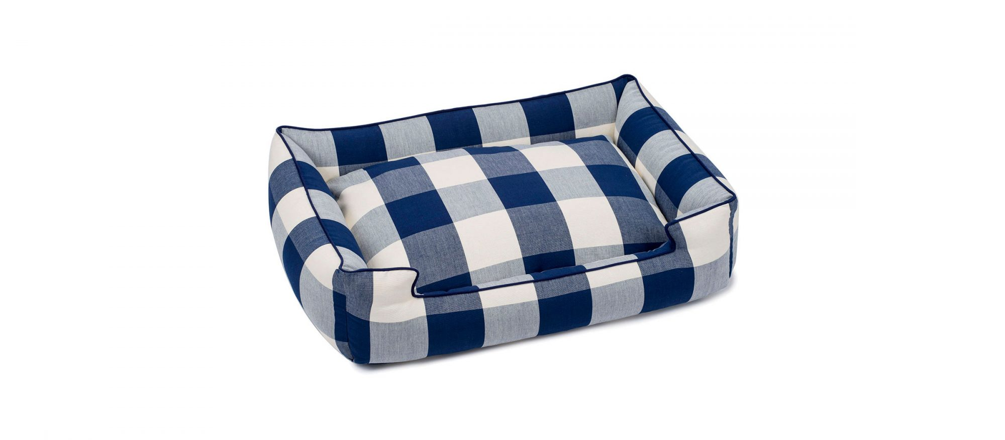 Buffalo Check Navy Lounge Bed from Jax and Bones