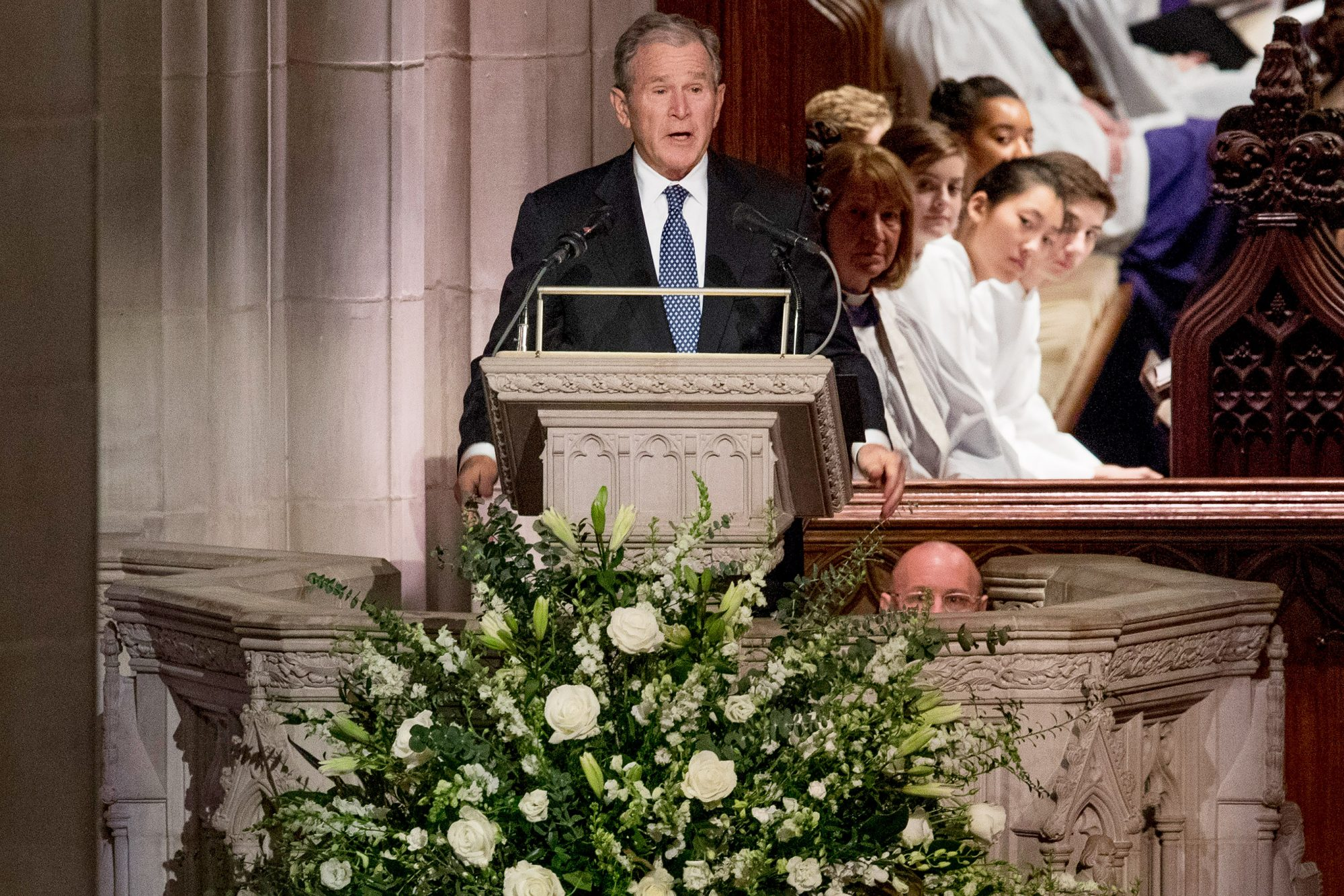 George W. Bush Cries During Emotional Eulogy of Father George H.W.: 'He Was Close to Perfect' a-bush-4