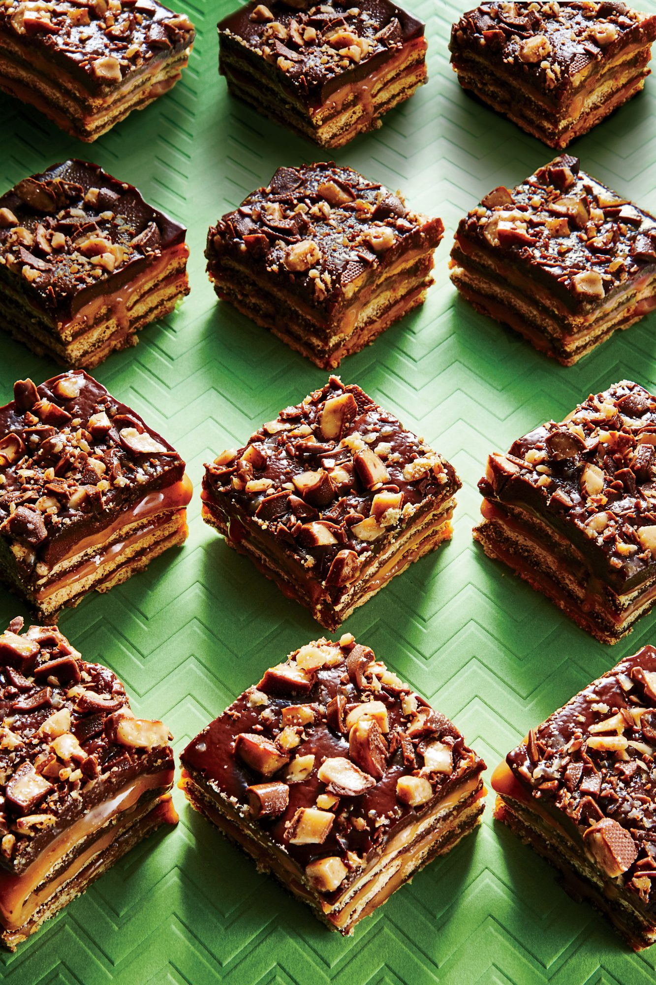 No-Bake Fudgy Toffee Bars