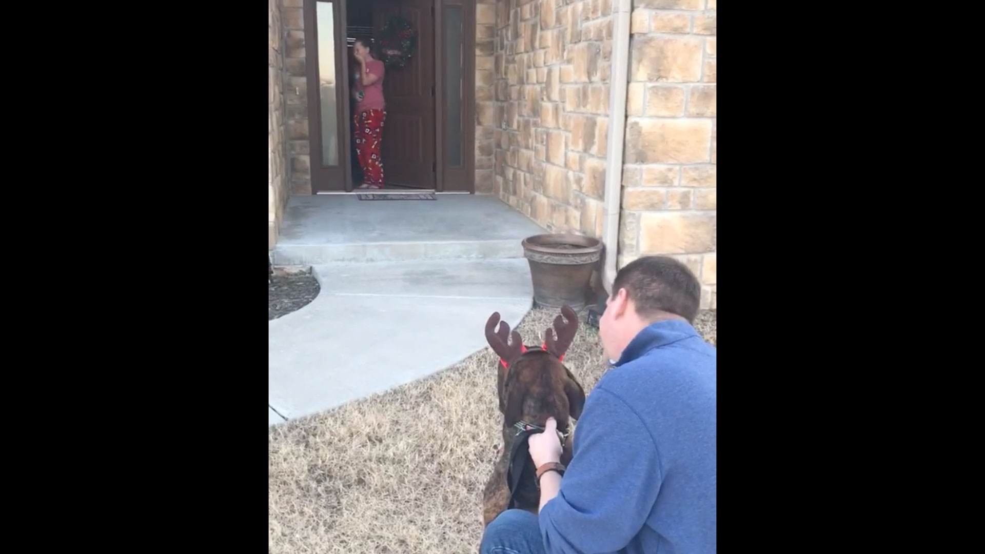 Hallee Fuqua Surprised with Dog