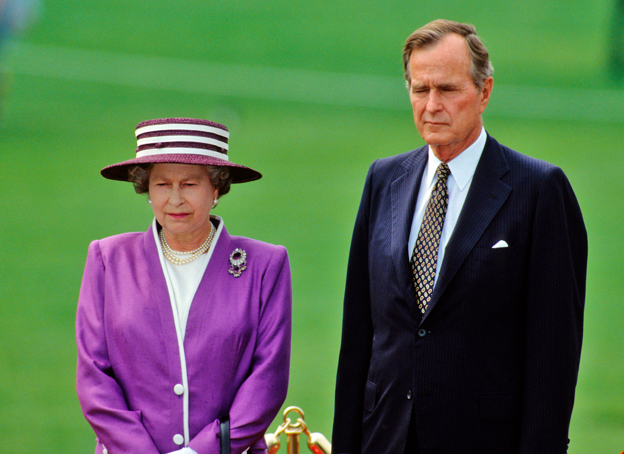 Queen Elizabeth Remembers George H.W. Bush — Who She Knighted in 1993 — with 'Great Fondness' george-bush-b