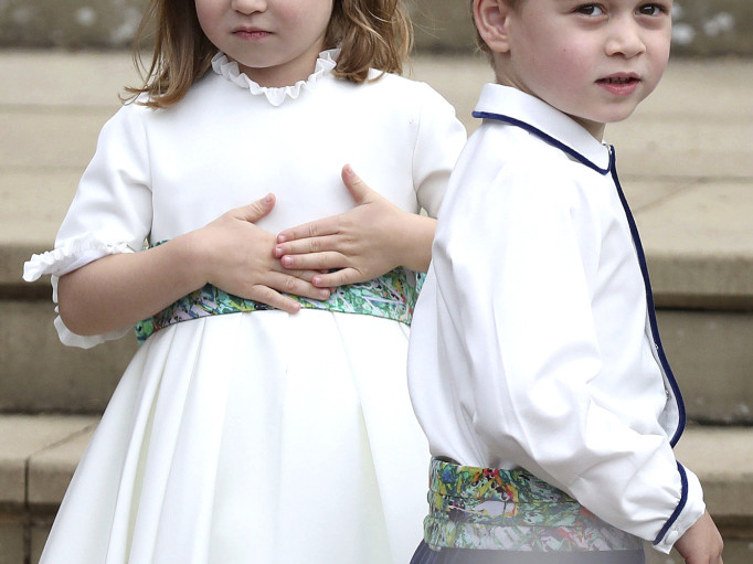 Prince George and Princess Charlotte Are Bridal Party Pros at Princess Eugenie's Wedding! george-charlotte-1-2000