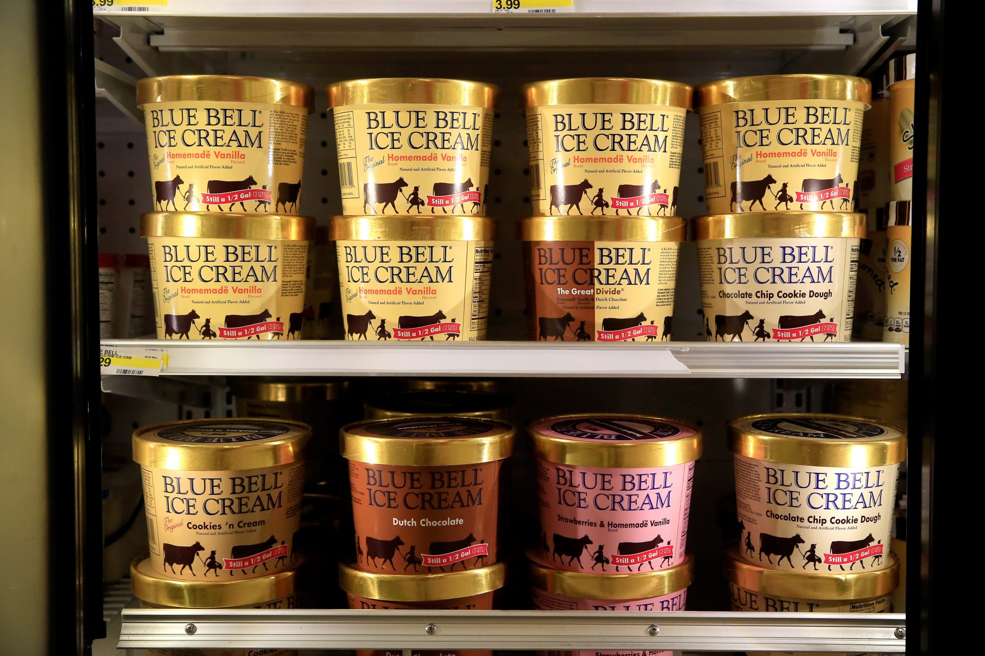Blue Bell Ice Cream Containers
