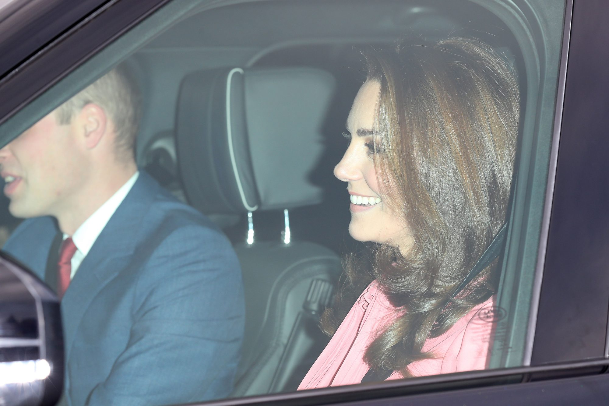 Kate Middleton Wearing Pink Dress to Christmas Luncheon