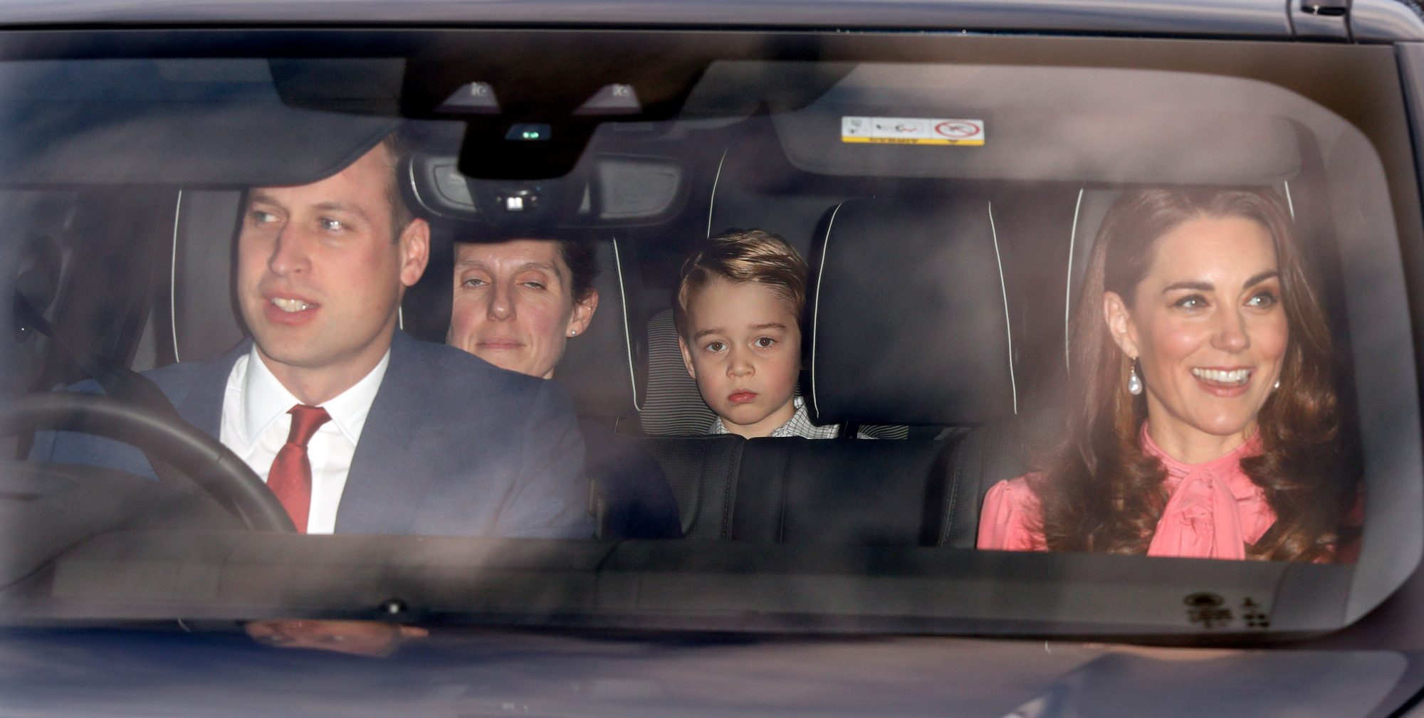 Royal Family in Car