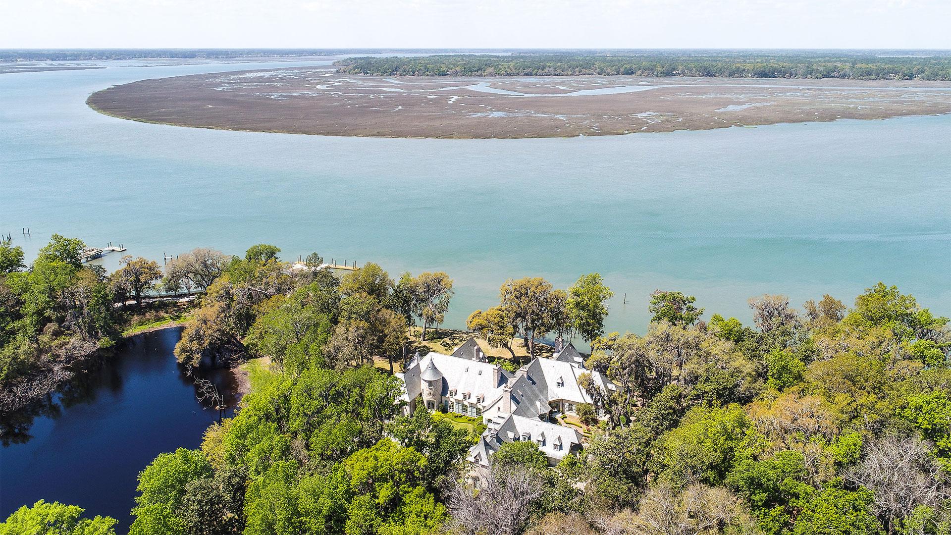 Colleton River Club French Chateau Aerial