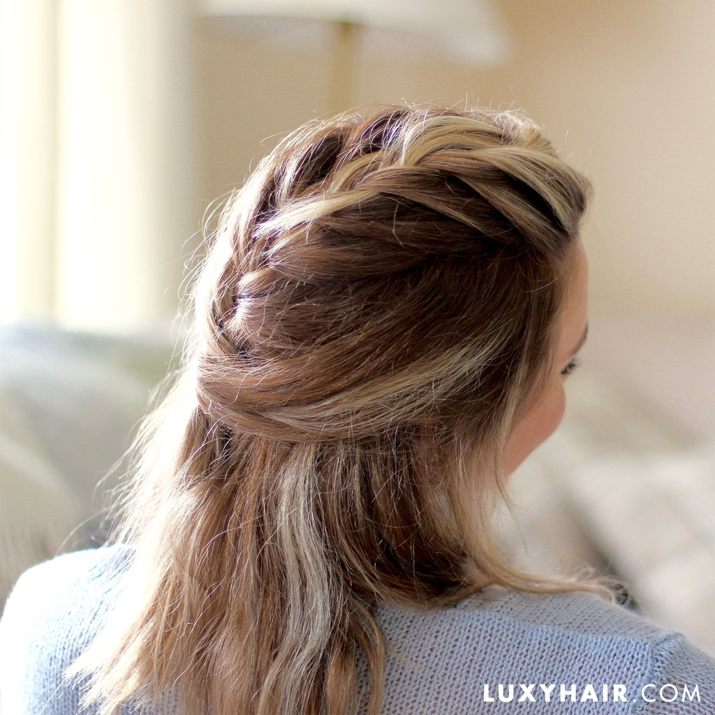 The Half-Up French Braid